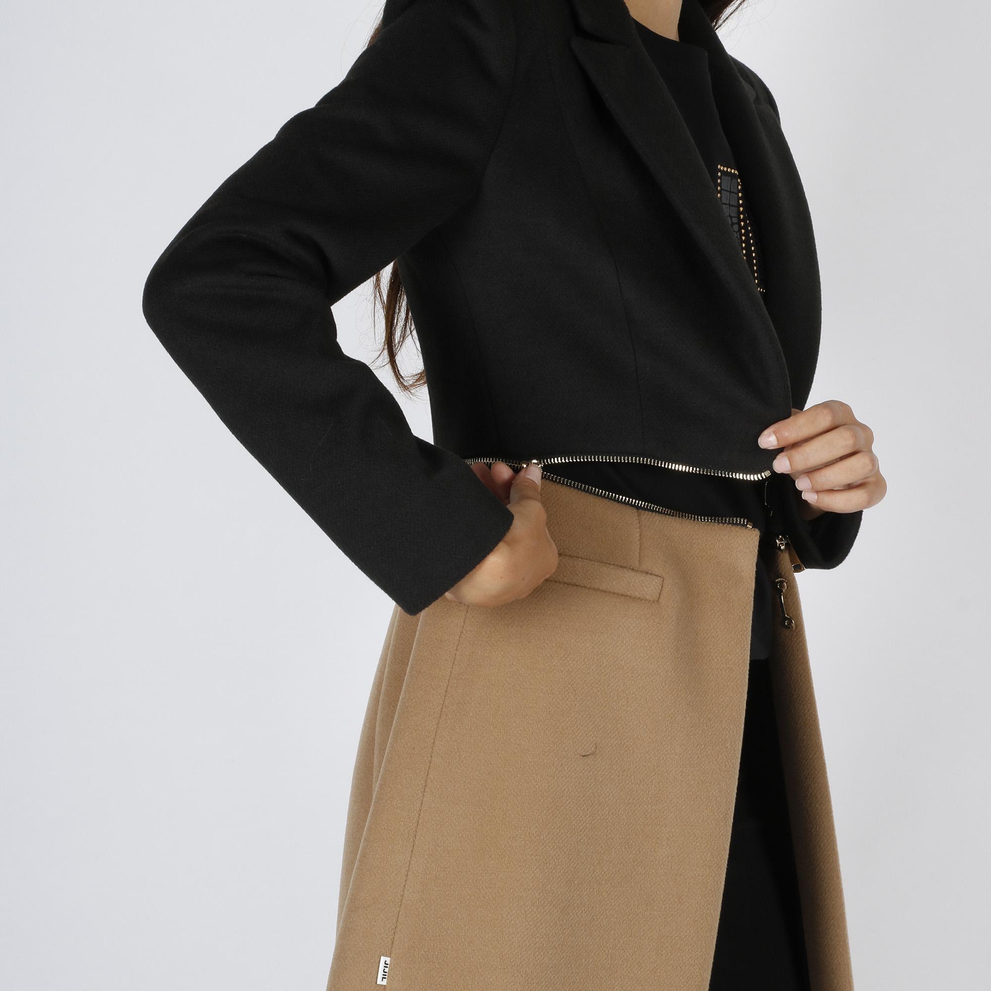Cappotto bicolor - Nero/Cammello