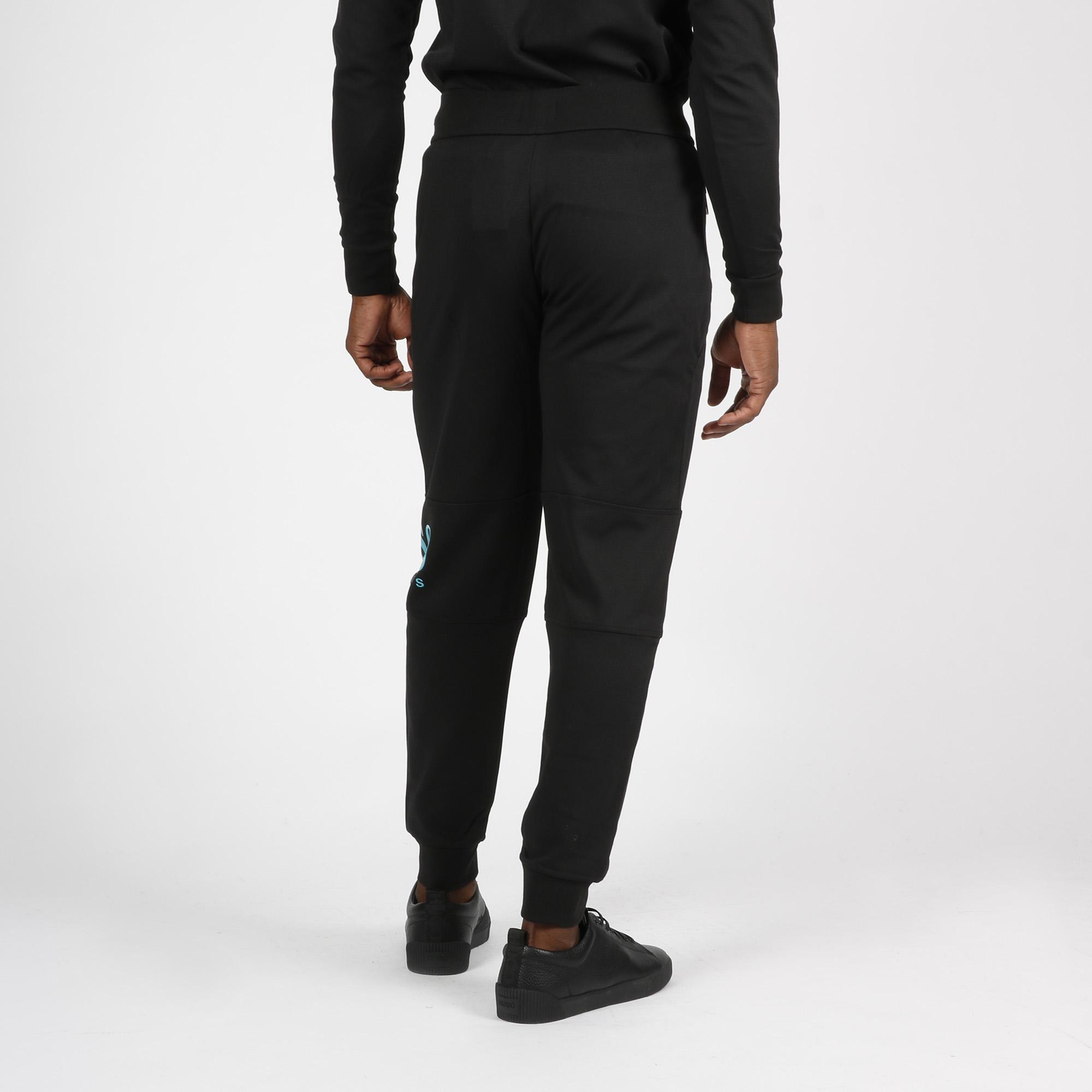 Pantalone tuta logo ginocchio - Nero