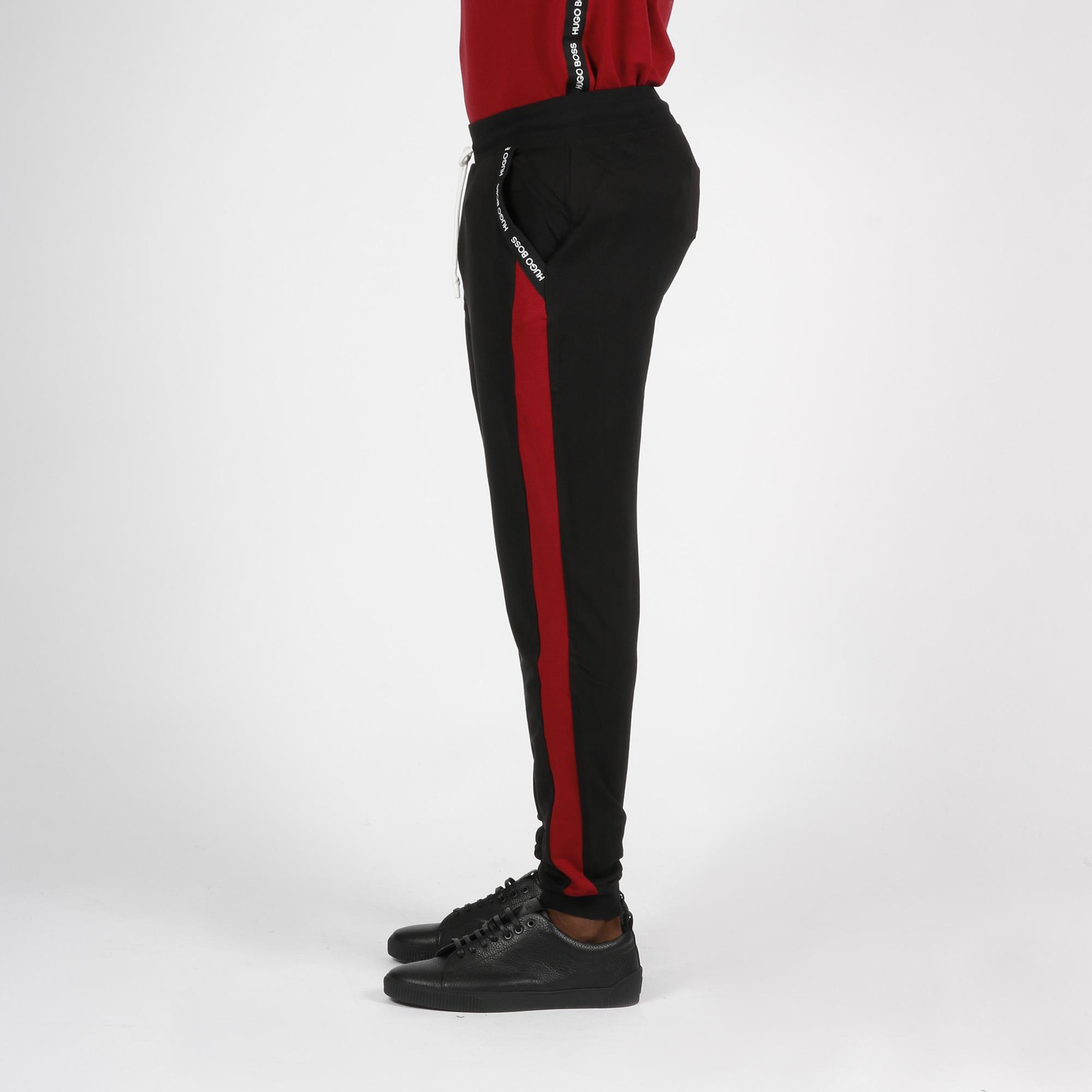 Pantalone tuta logo tasche - Nero