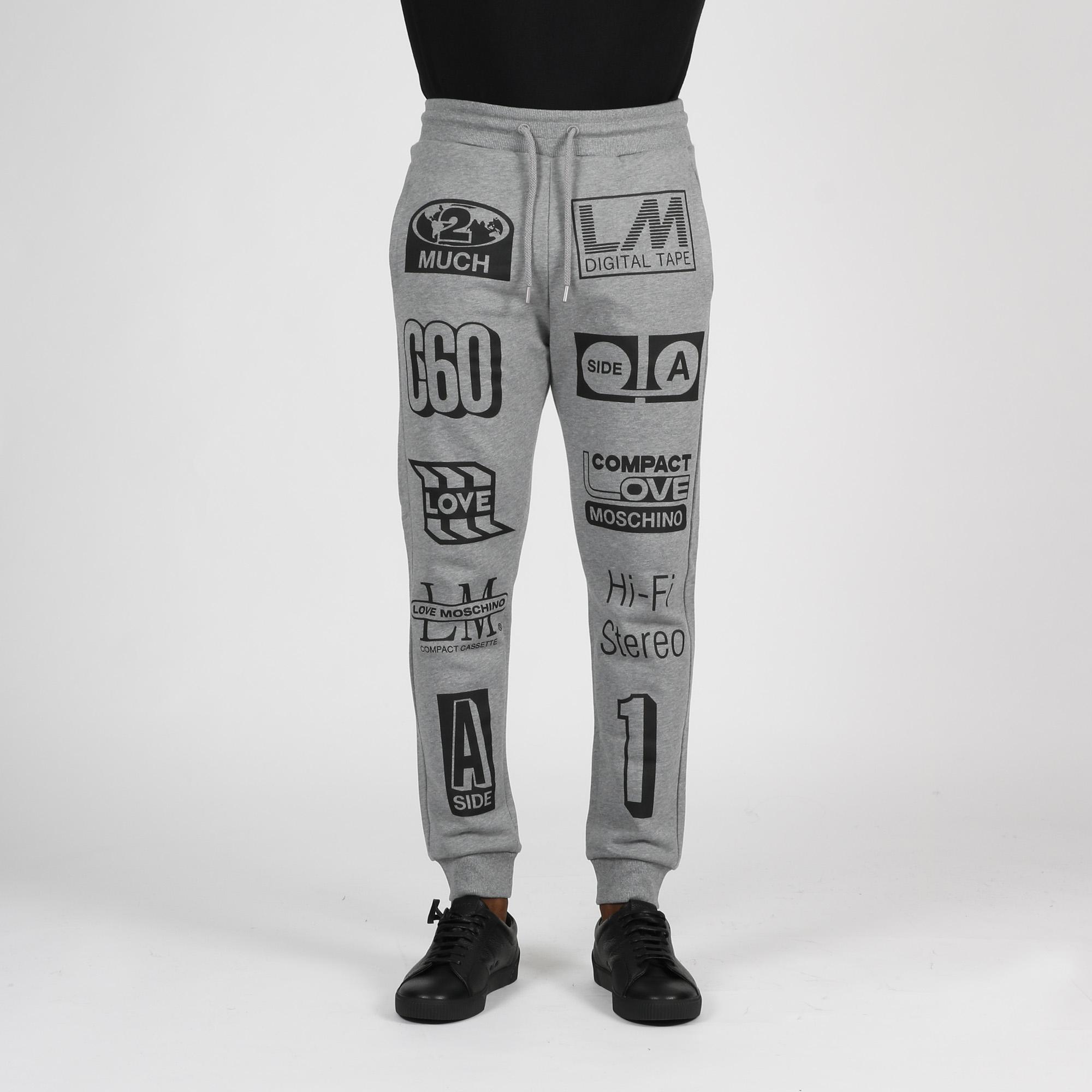 Pantalone felpa st. logo casse - Grigio