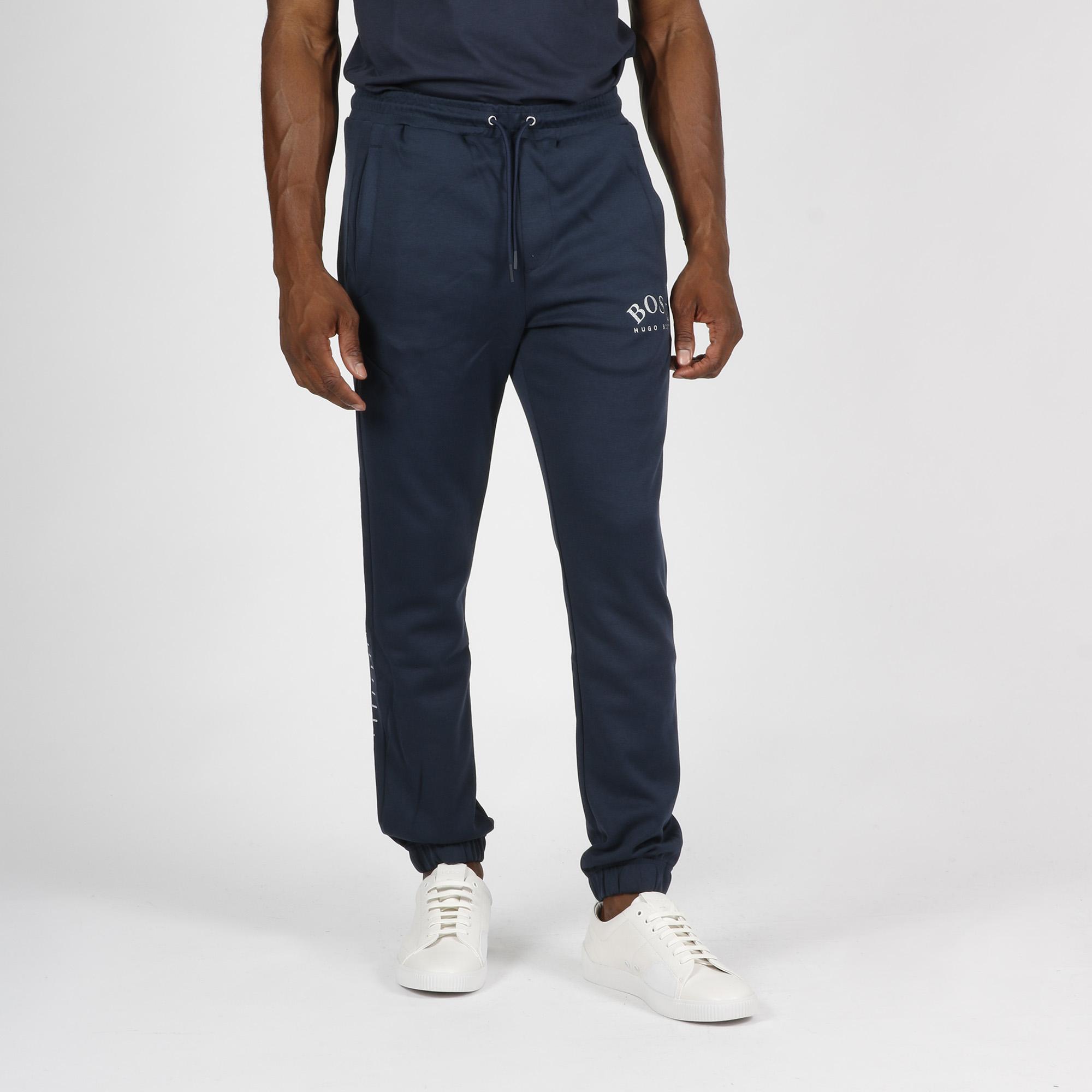 Pantalone tuta logo arrotondato - Blu