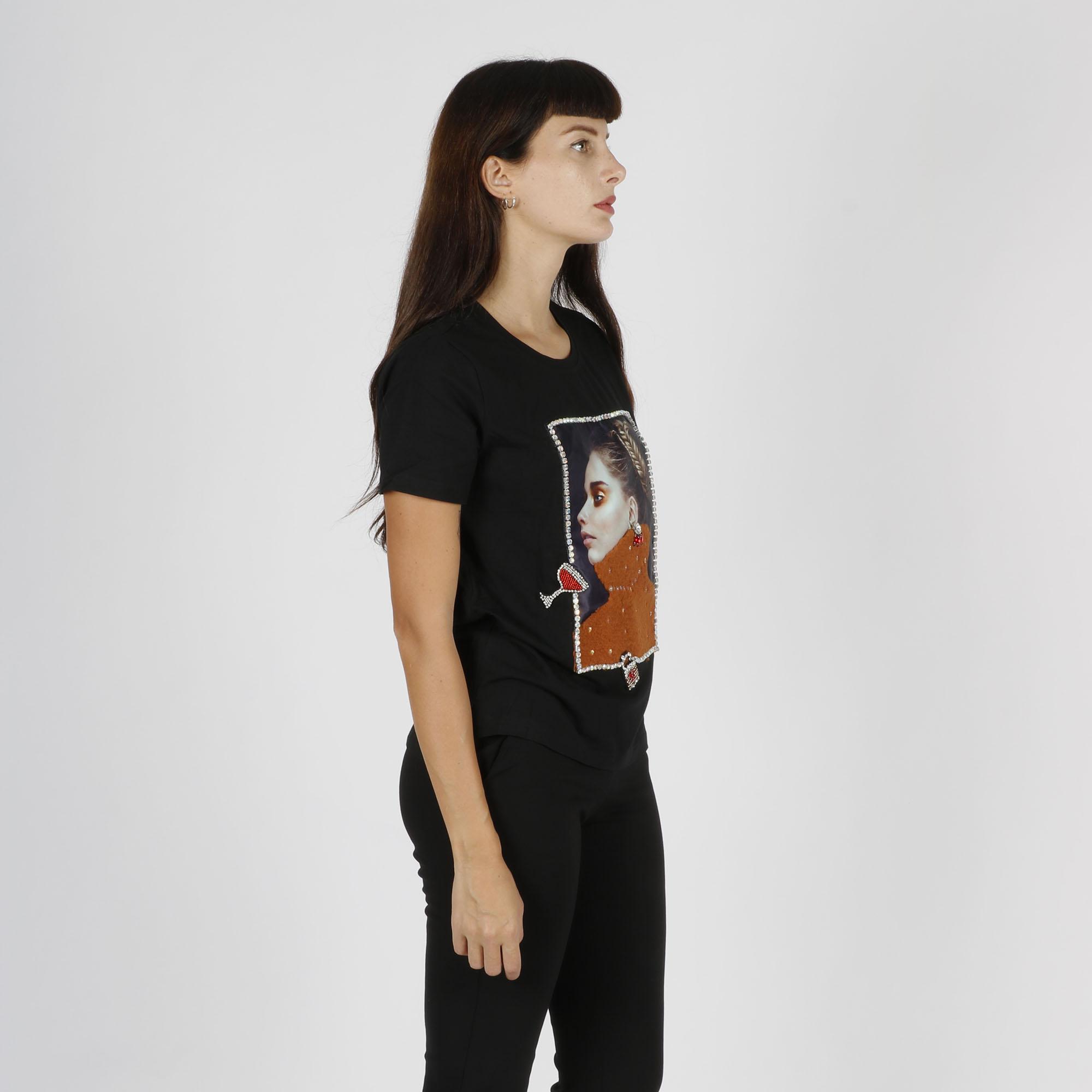 T-shirt ragazza dolcevita - Nero