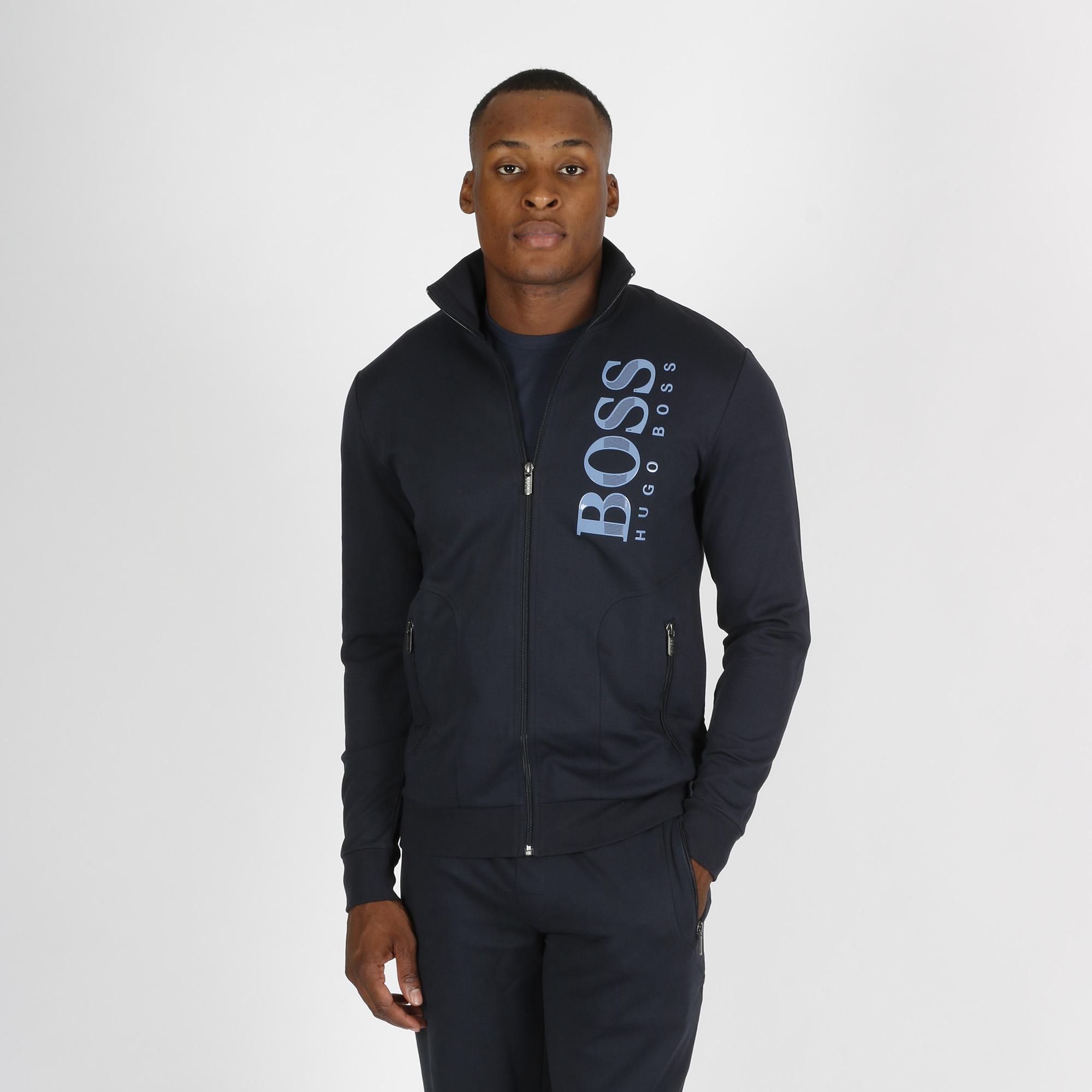 Felpa logo verticale - Blu scuro