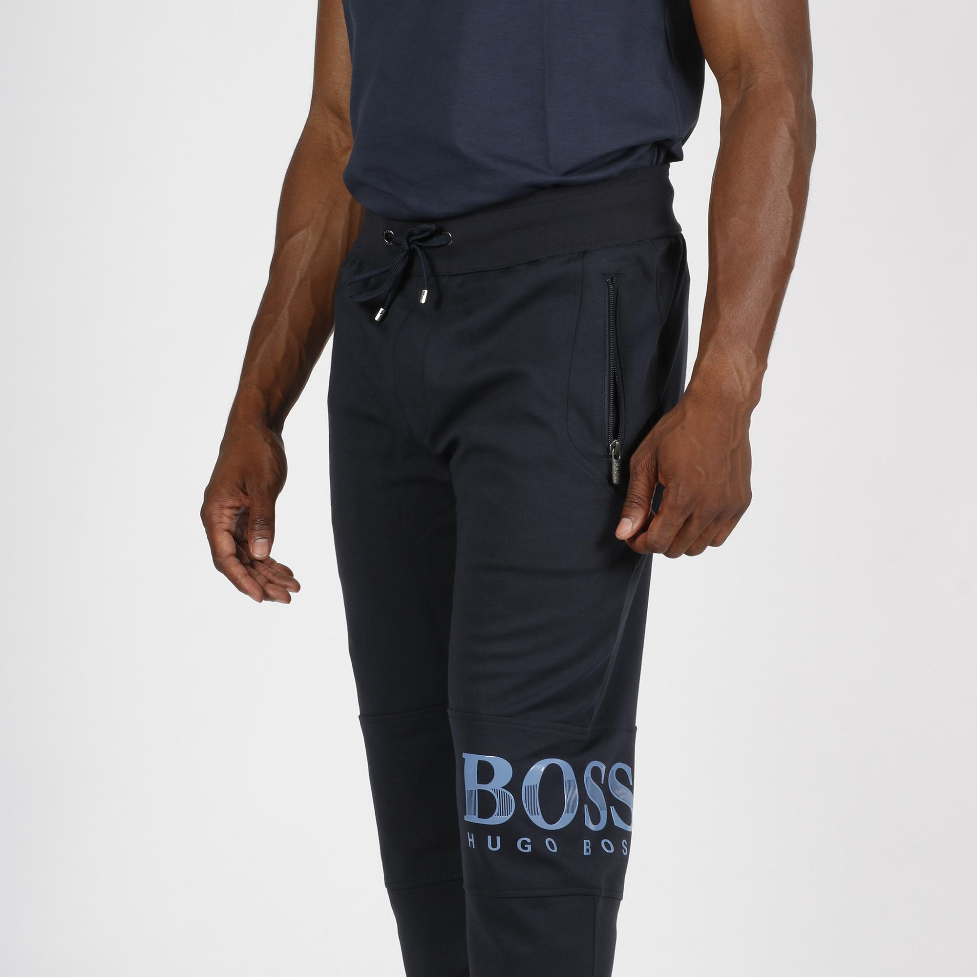 Pantalone tuta logo ginocchio - Blu scuro