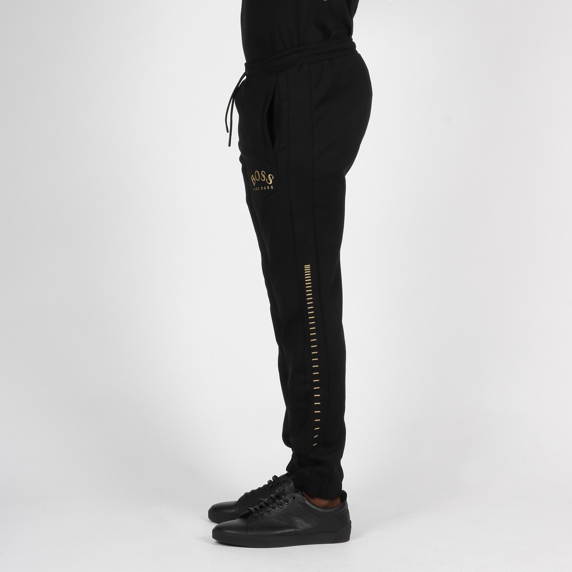 Pantalone tuta logo arrotondato - Nero