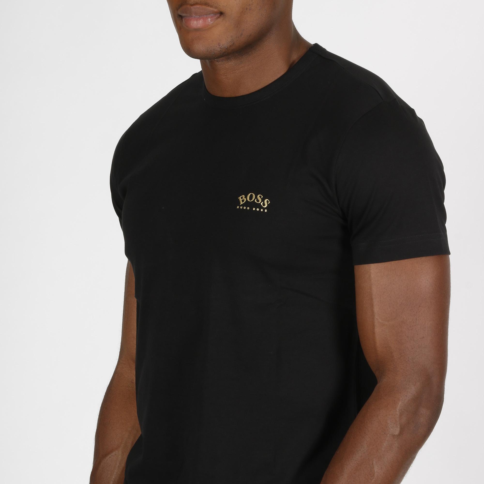T-shirt logo arrotondato - Nero