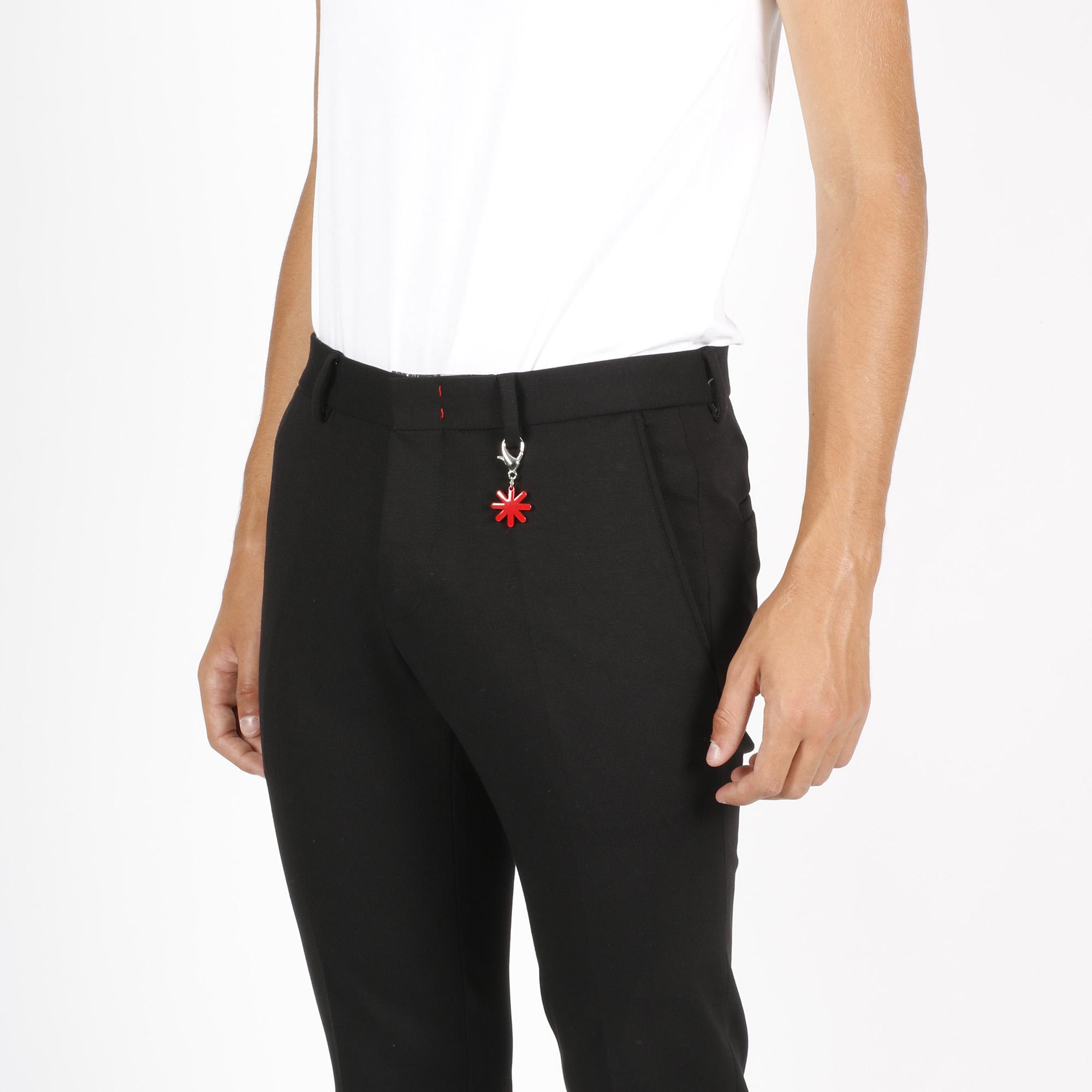 Pantalone classico slim - Nero