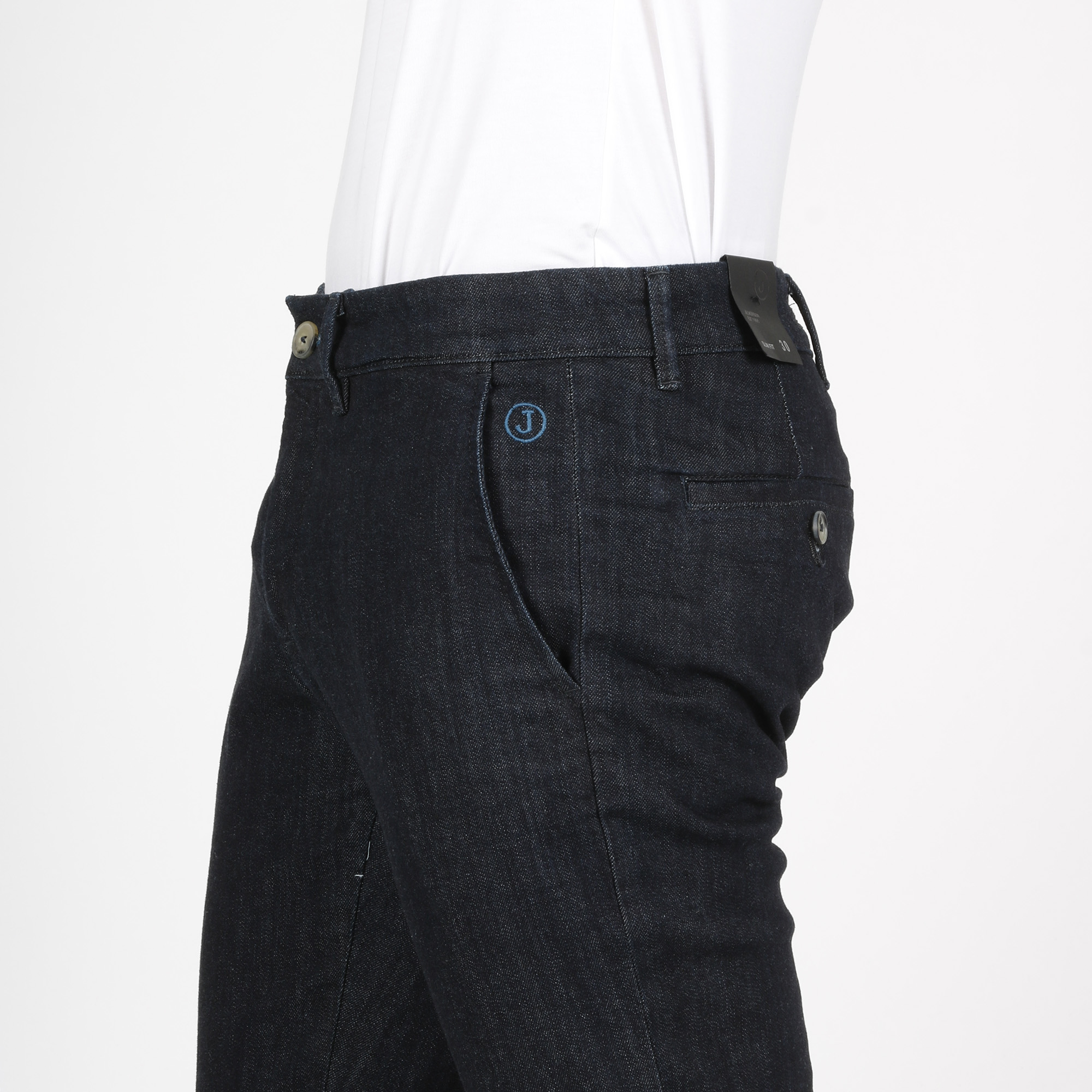Pantalone chino slim - Demin scuro