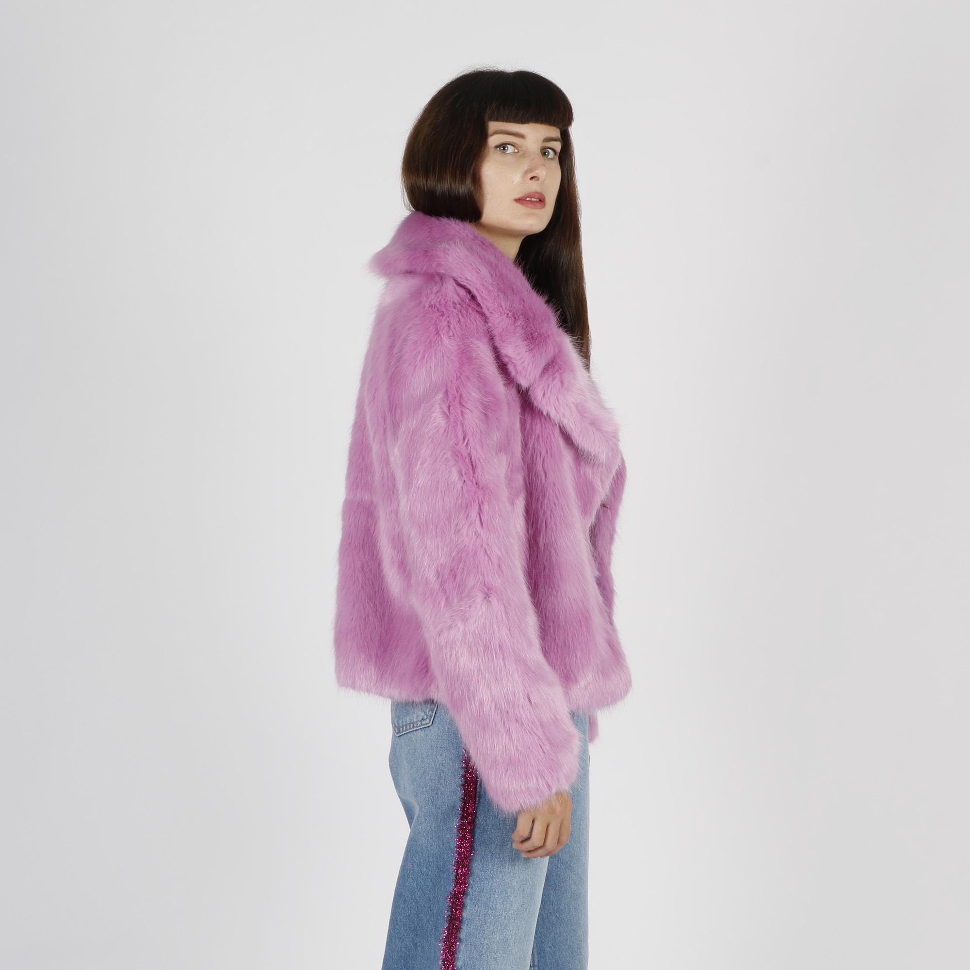 Cappotto donna ecopelliccia - Rosa