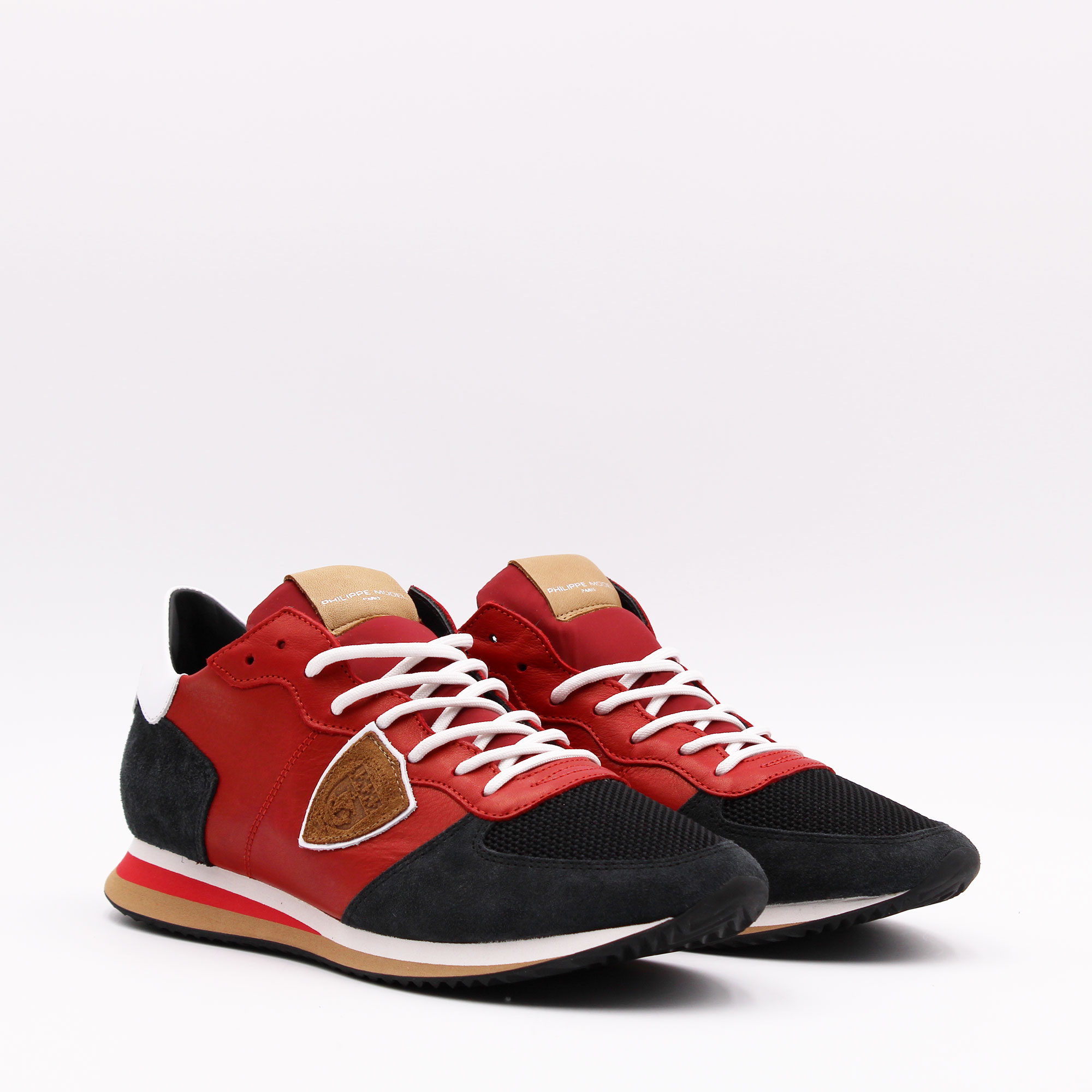 NEW COLLECTION- Trpx veau 70 rouge - Rosso/nero