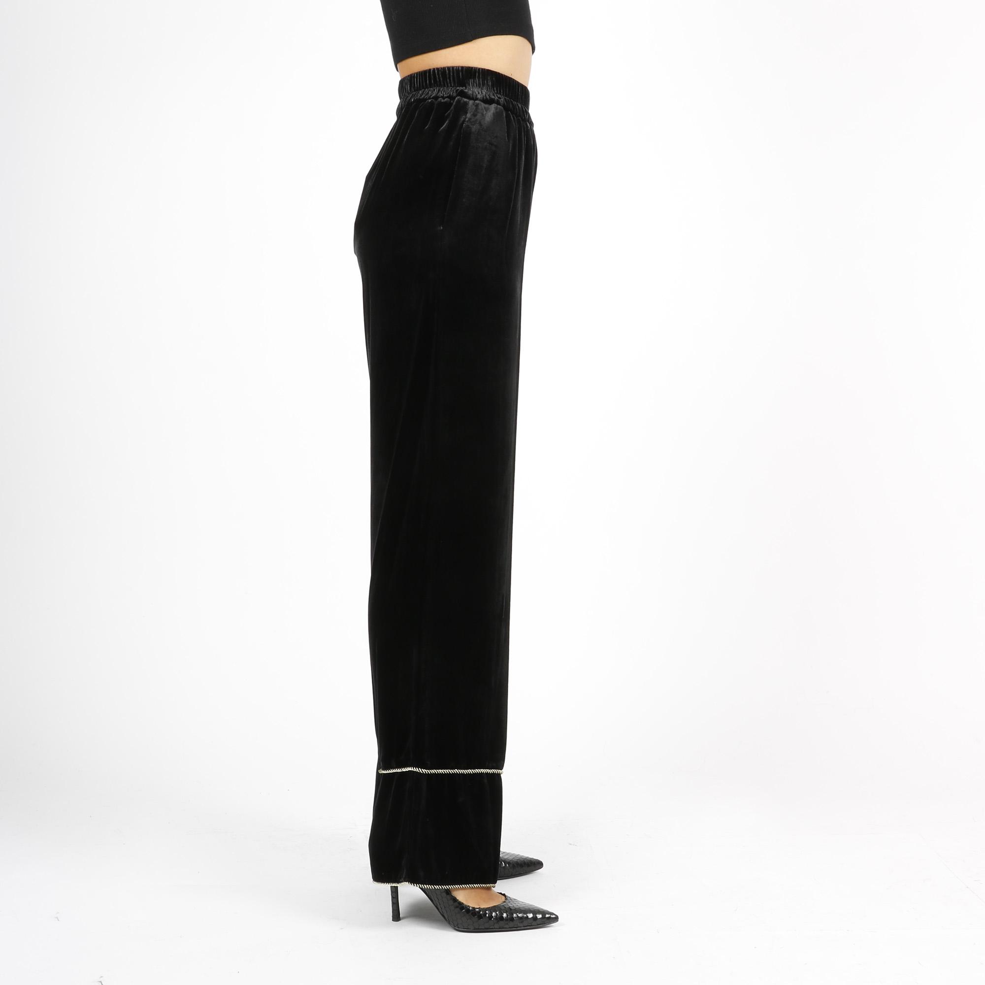 Pantalone velluto - Nero