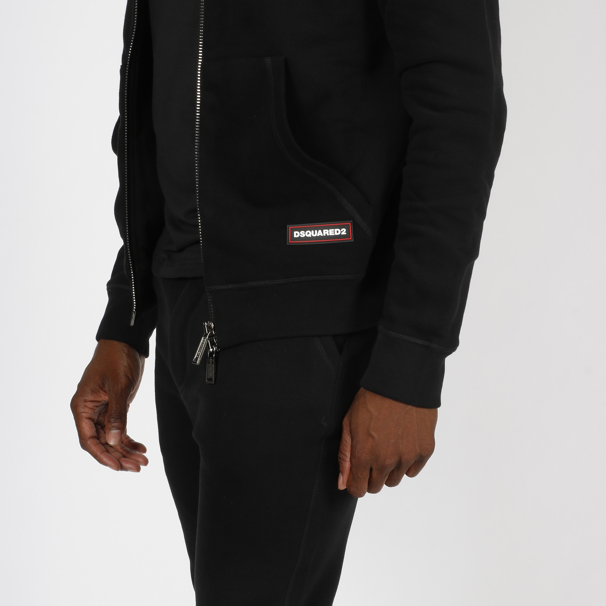 Felpa zipped logo - Nero