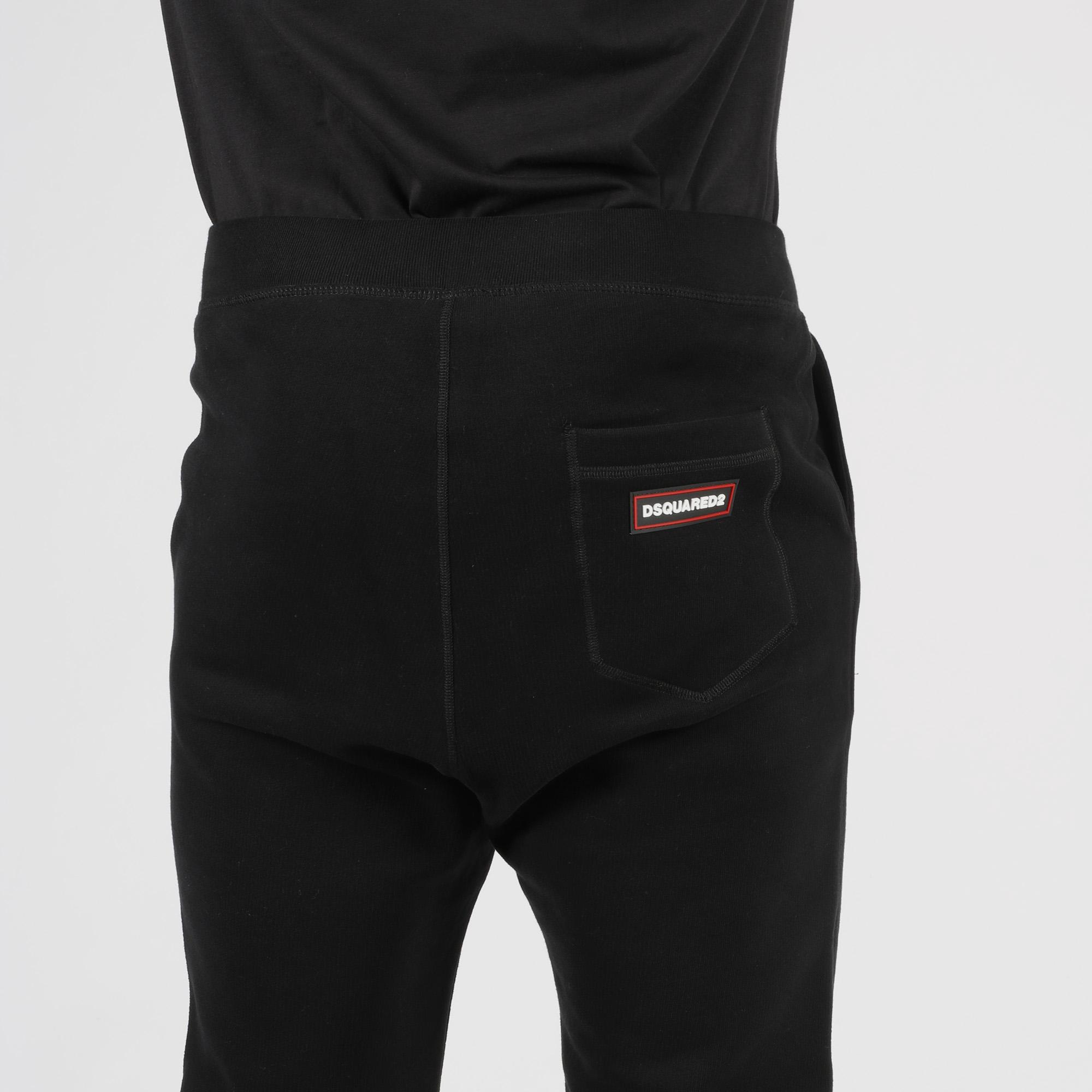 Pantalone felpato logo - Nero