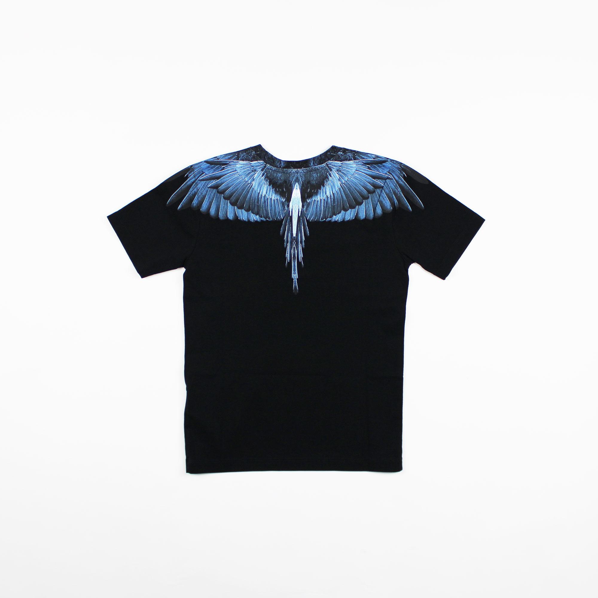 T-shirt blue wings - Nero