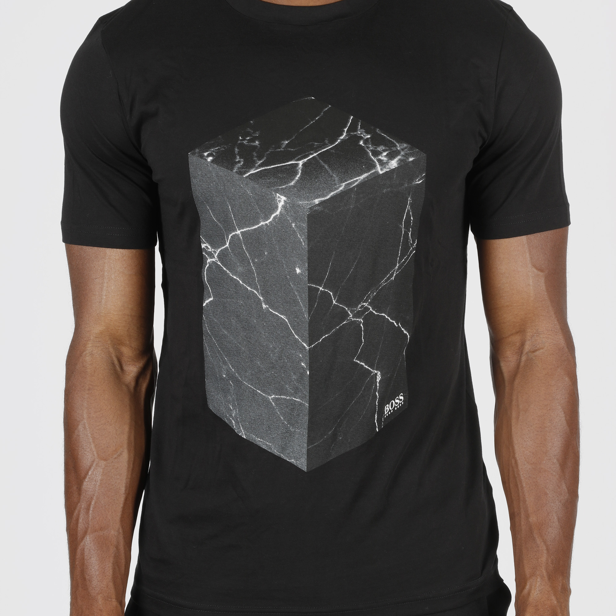 T-shirt marble 3d - Nero
