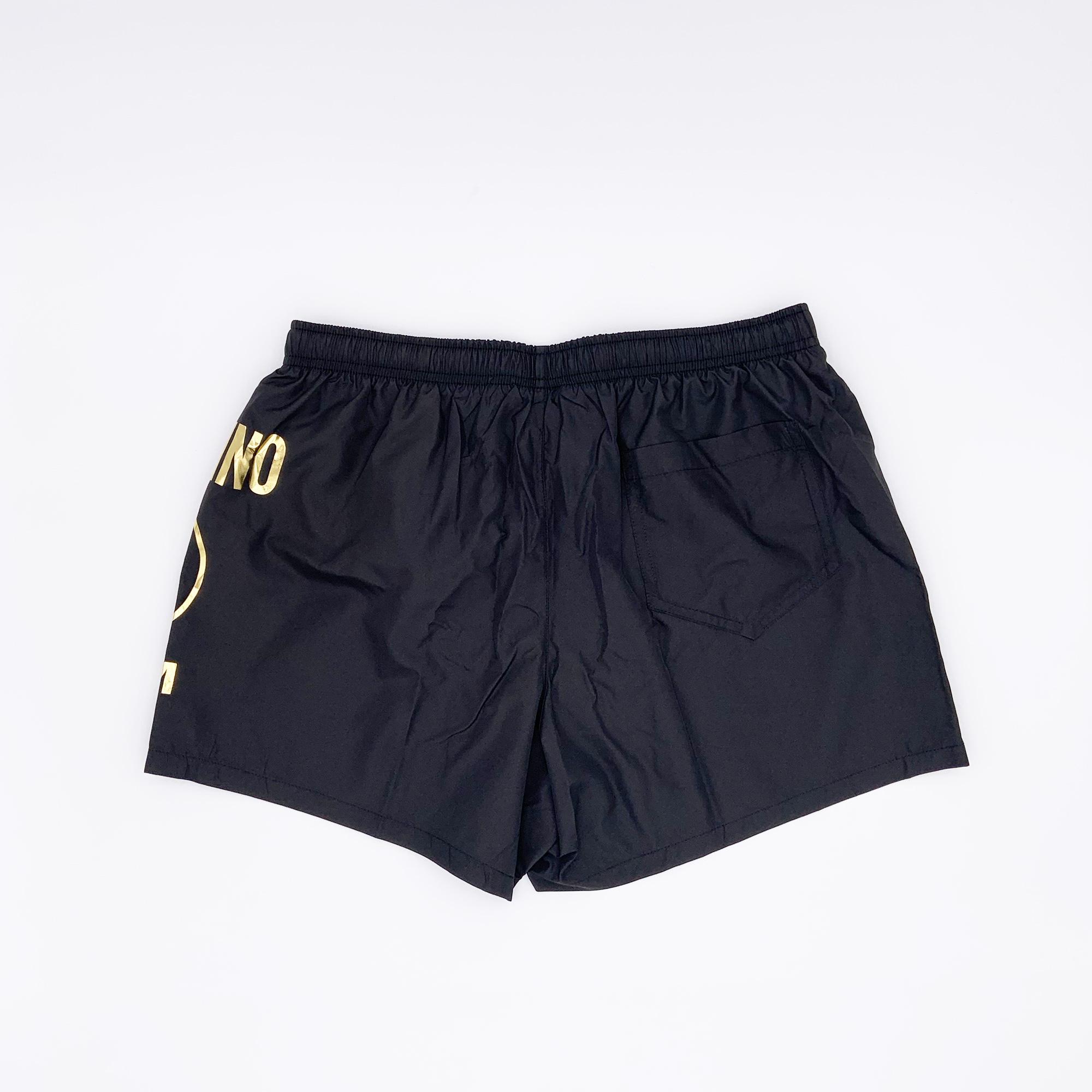 Costume boxer logo oro - Nero