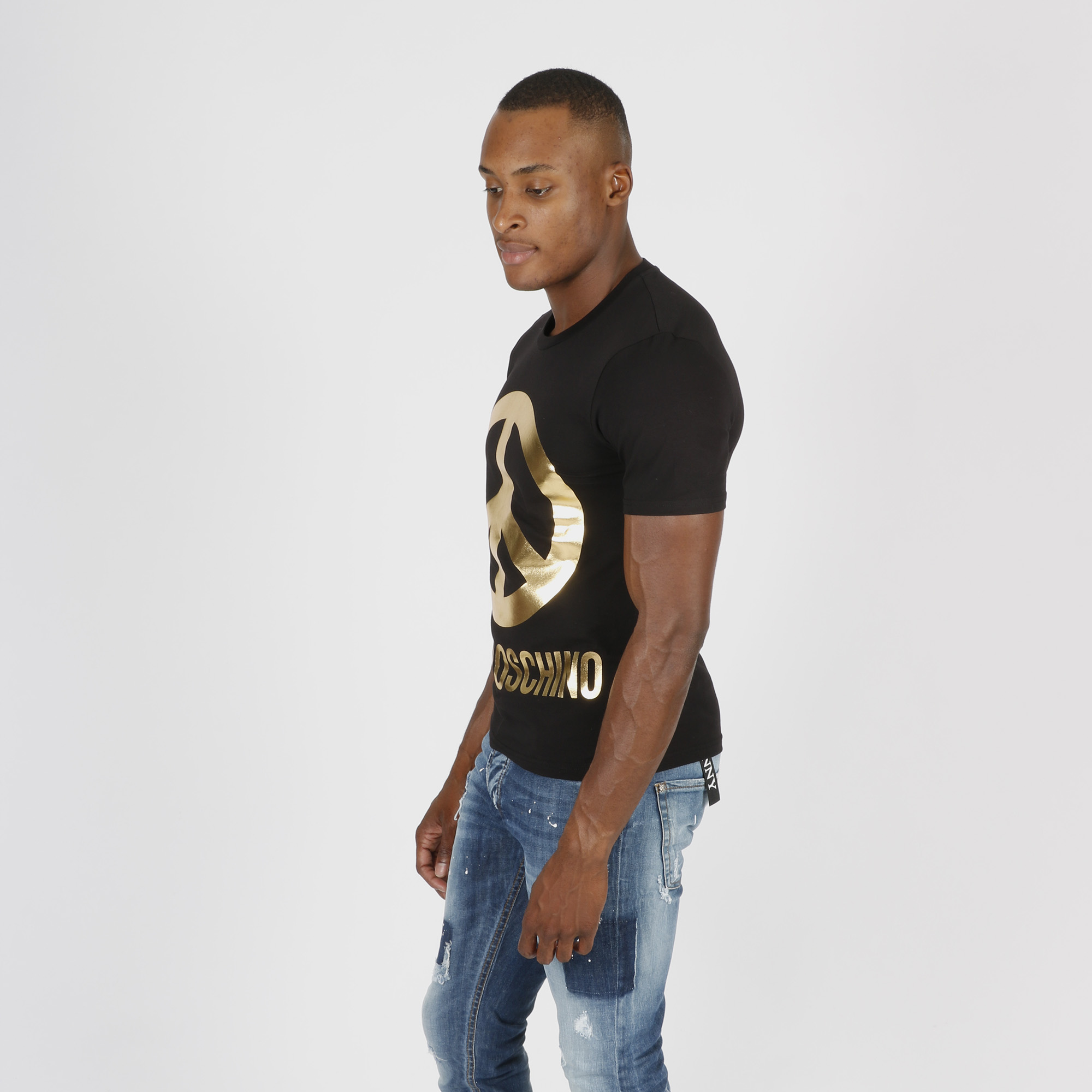 T-shirt simbolo pace - Nero