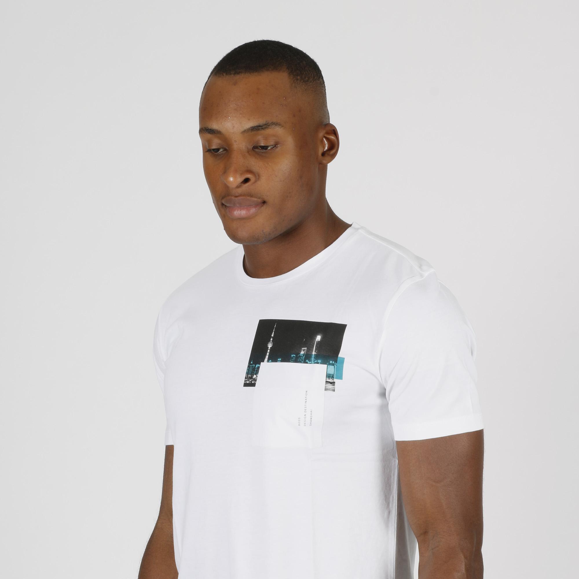 T-shirt stampa city - Bianco