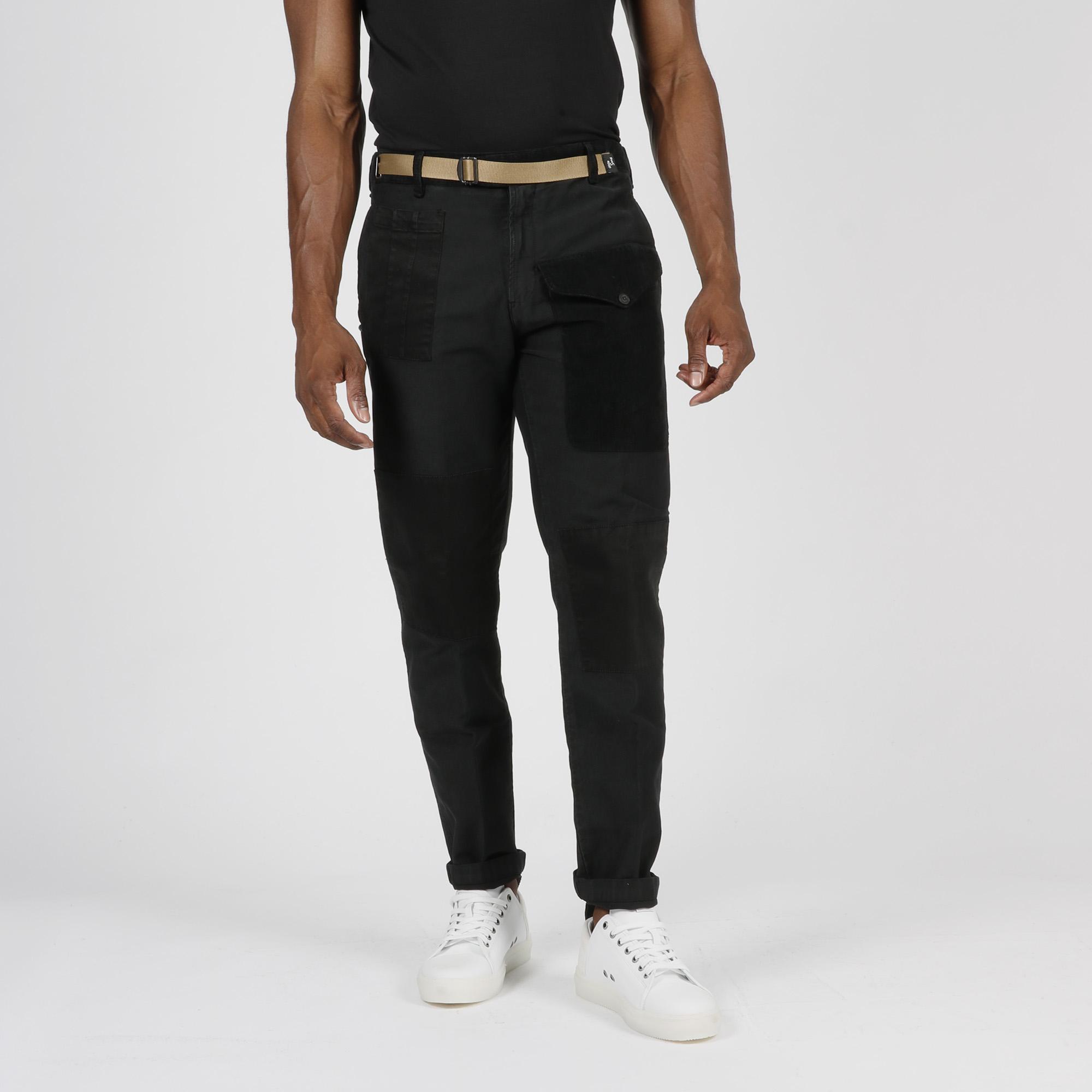 Pantalone tascone velluto - Nero