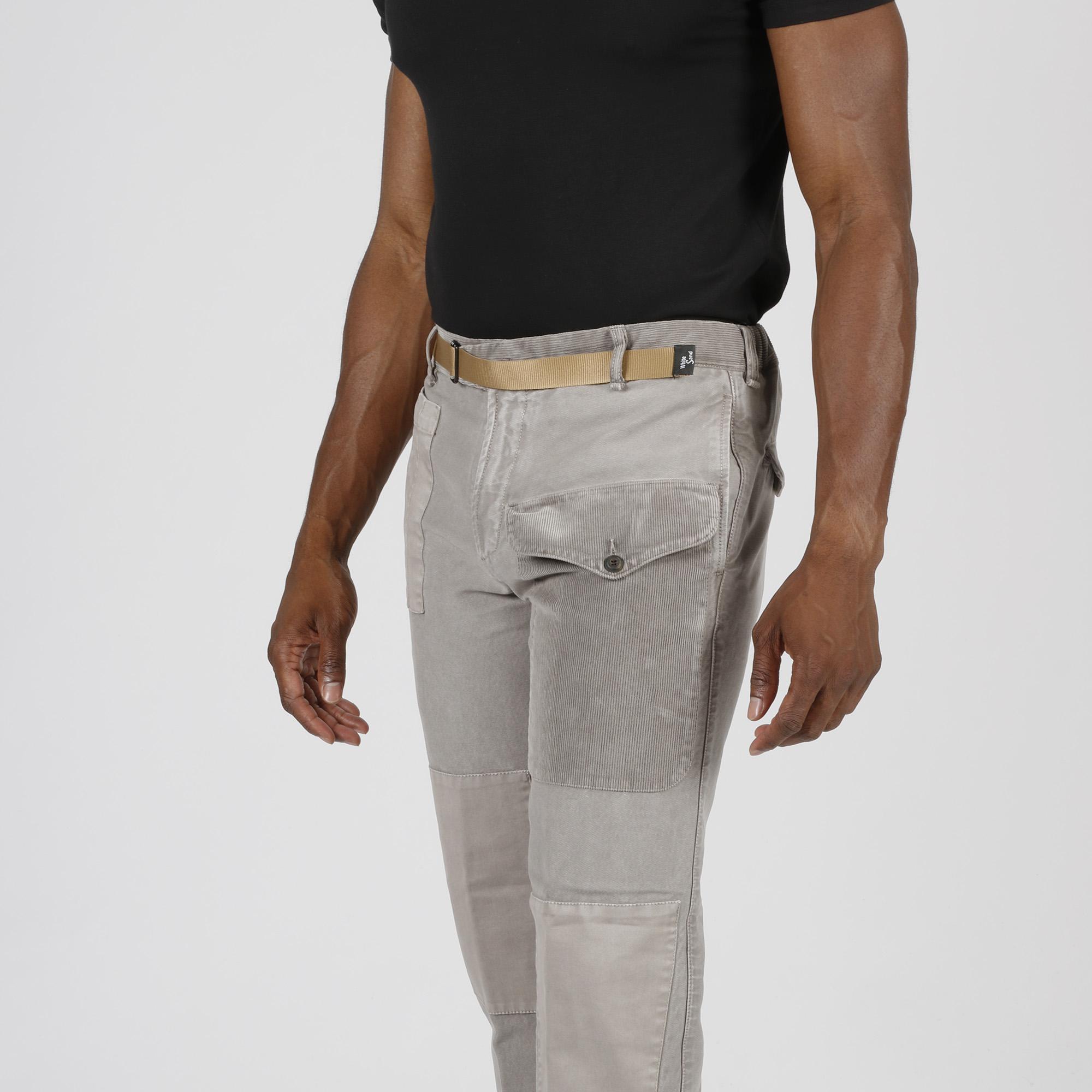 Pantalone tascone velluto - Tortora