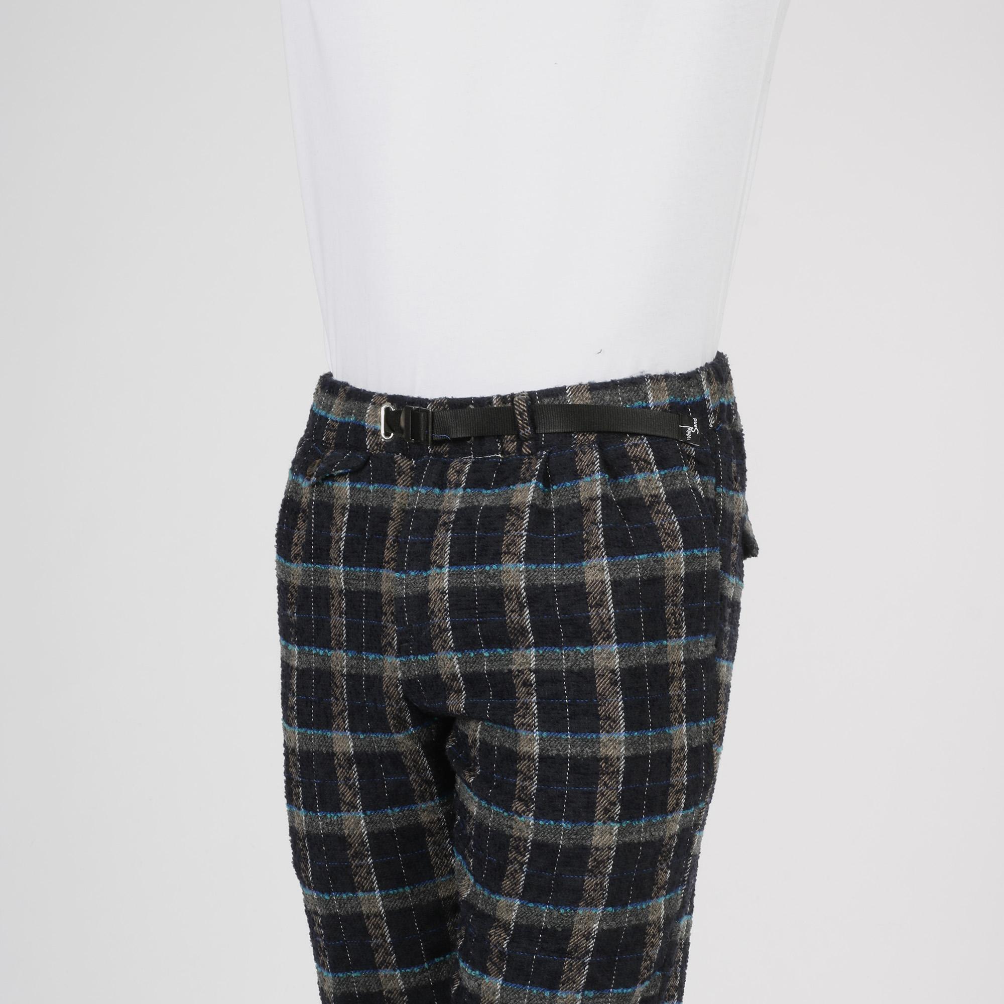 Pantalone check - Blu