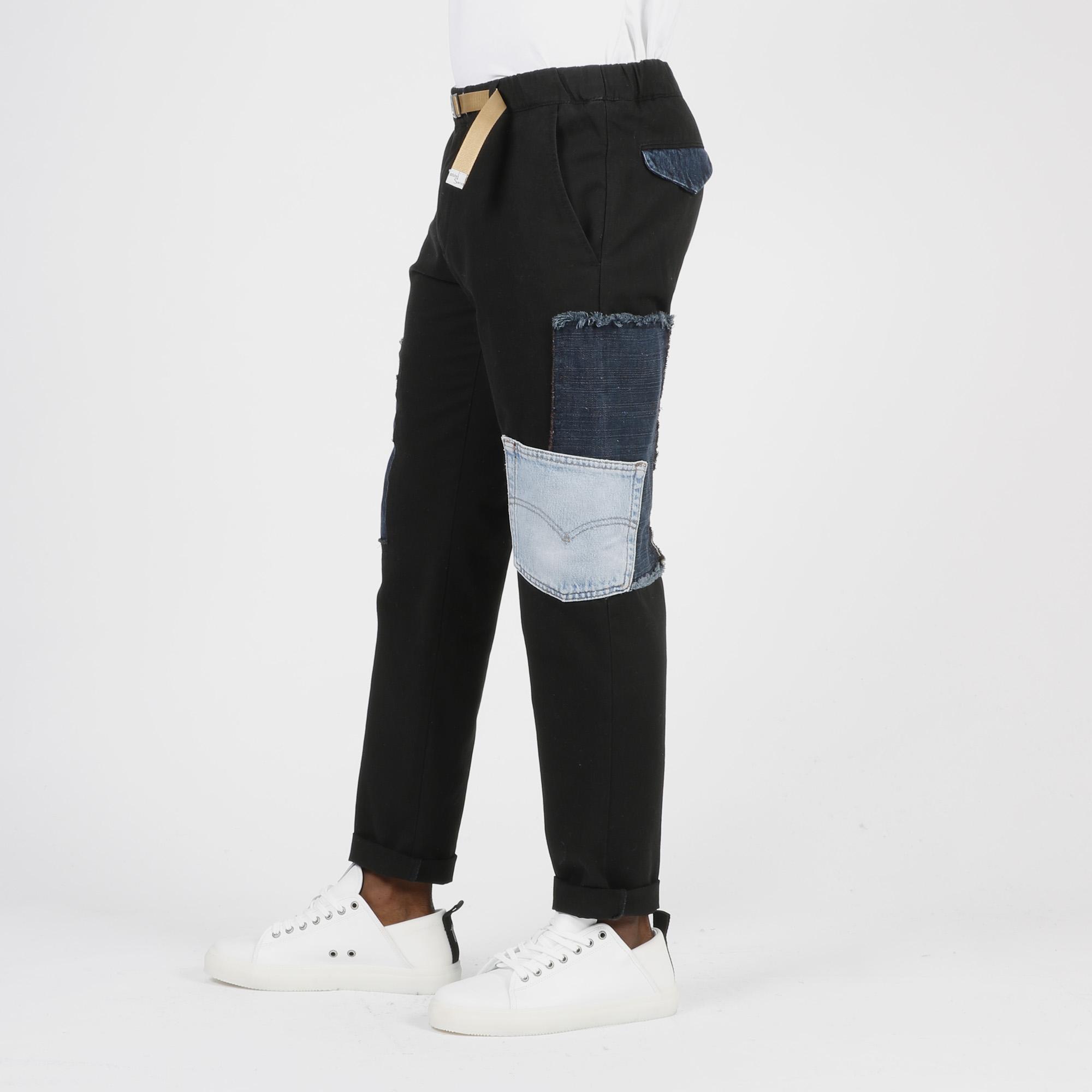 Pantalone toppe denim - Nero