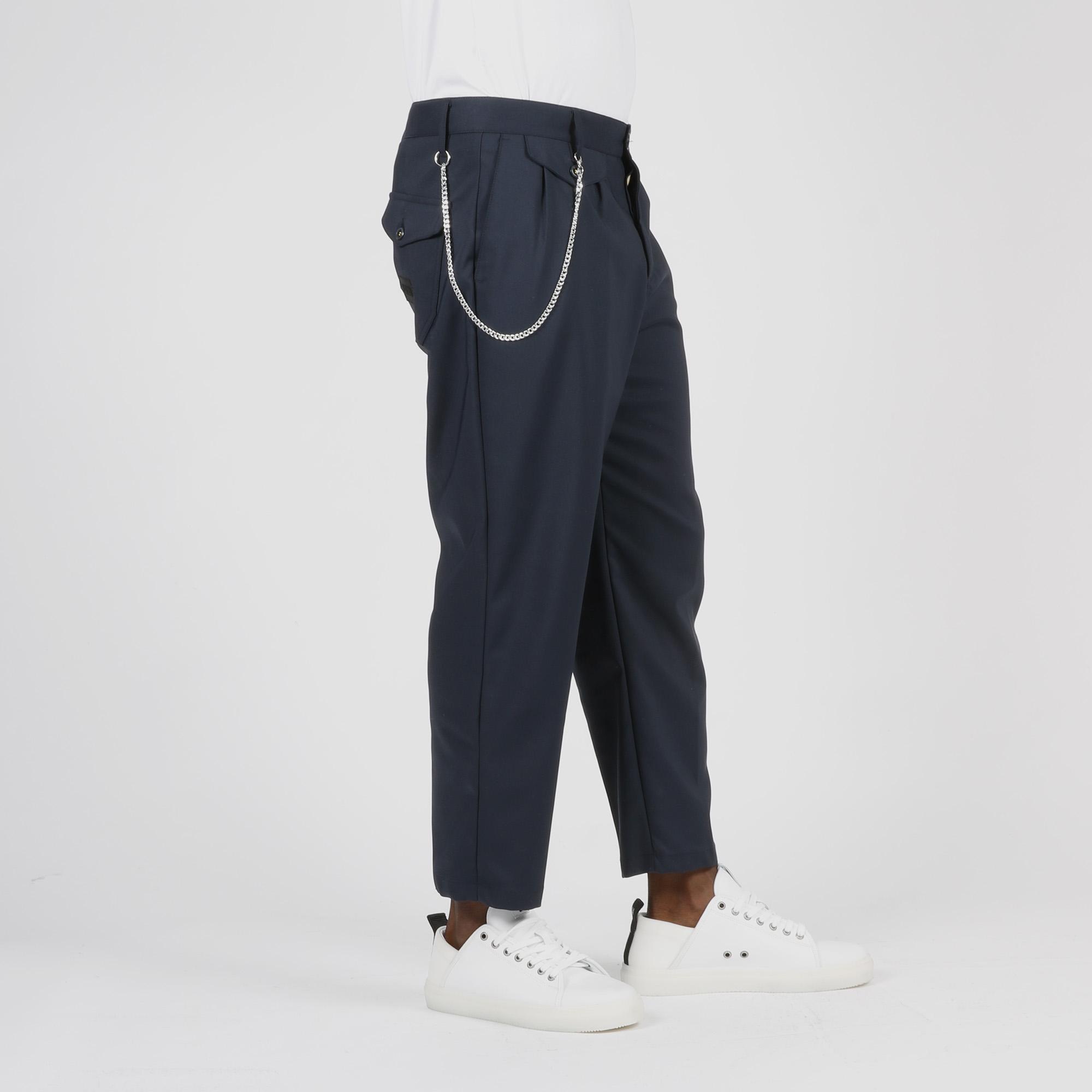 Pantalone wide led con catena - Blu