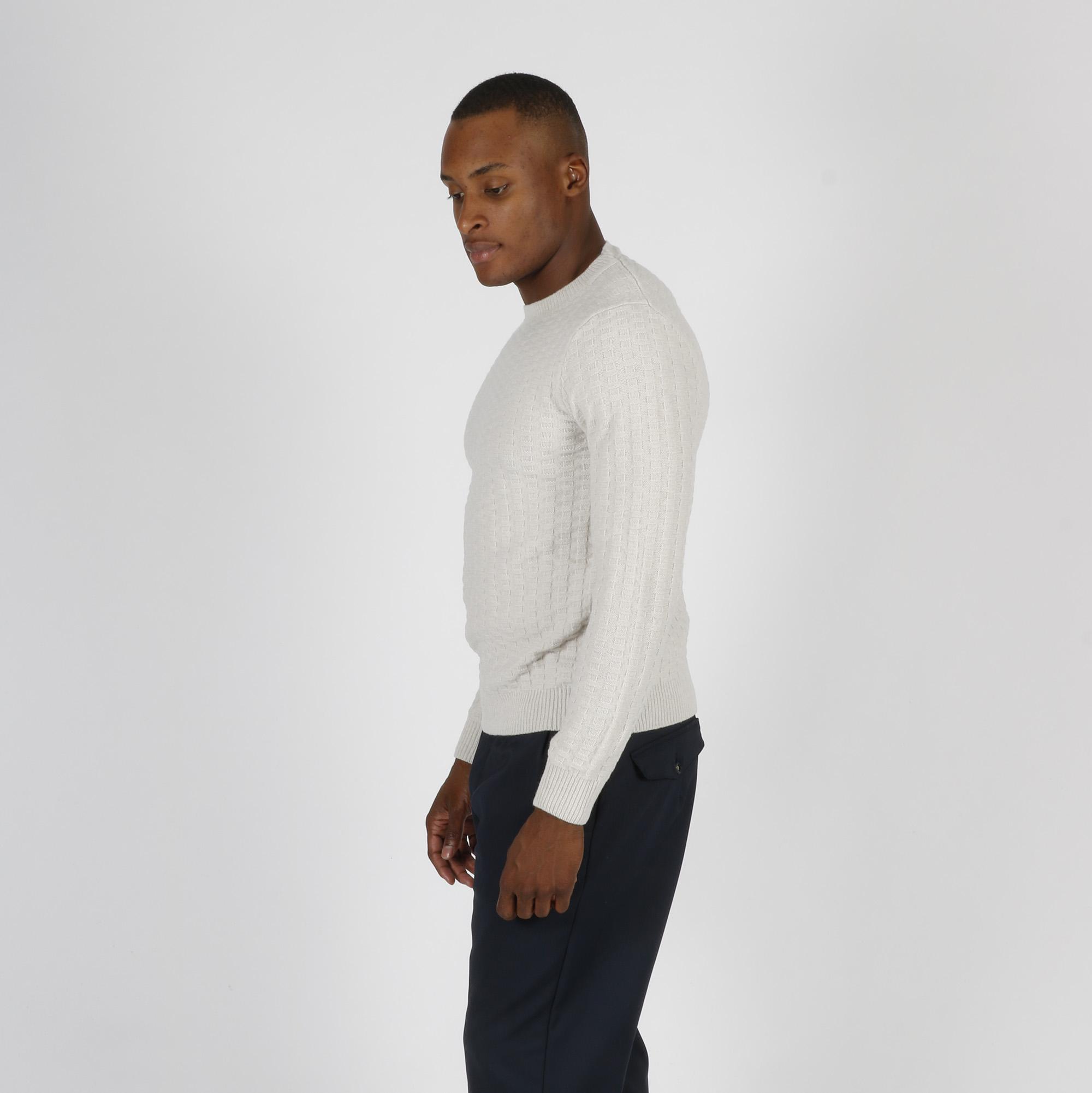 Maglione punto maglia - Bianco