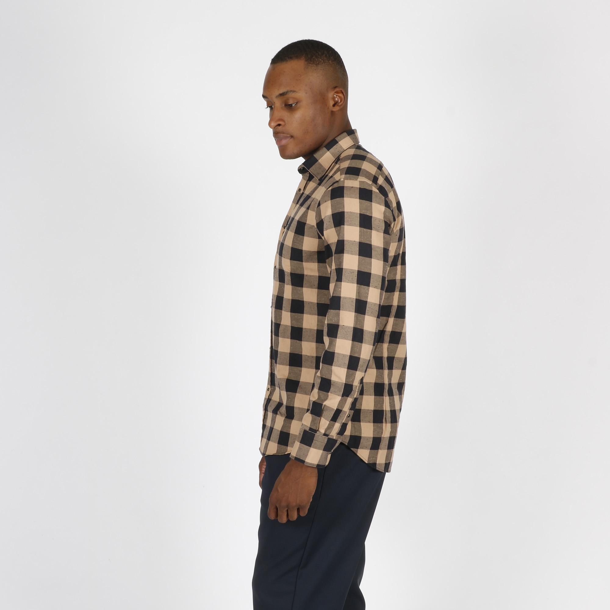 Camicia quadri mario - Nero