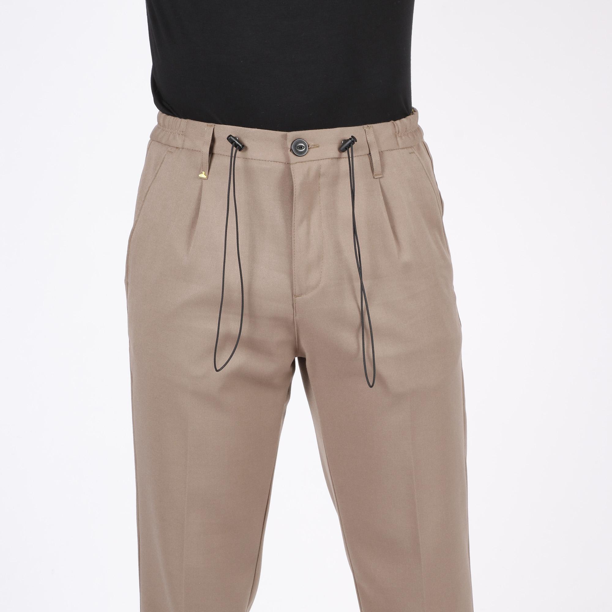Pantalone wide leg - Cammello
