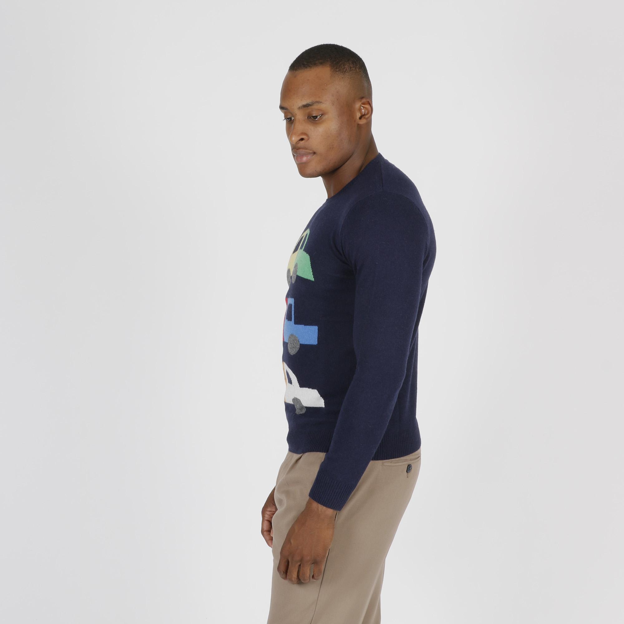 Paricollo central lana e cashmere - Blu