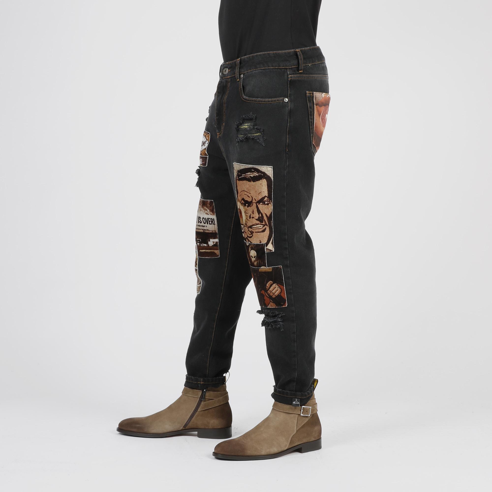 Jeans fumetto - Nero
