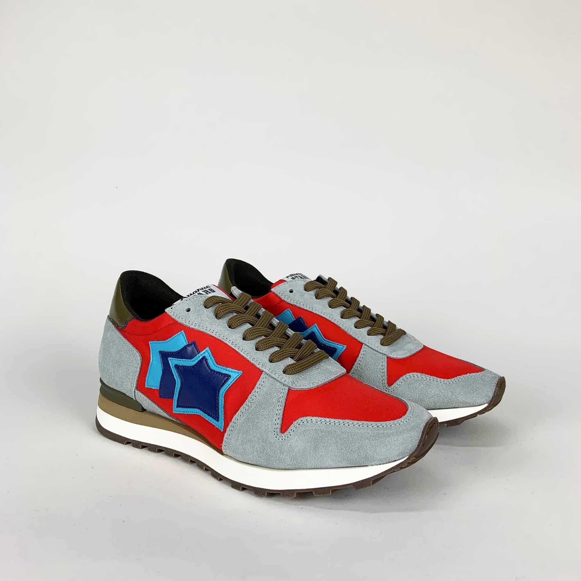 Sneakers argo - Grigio/rosso