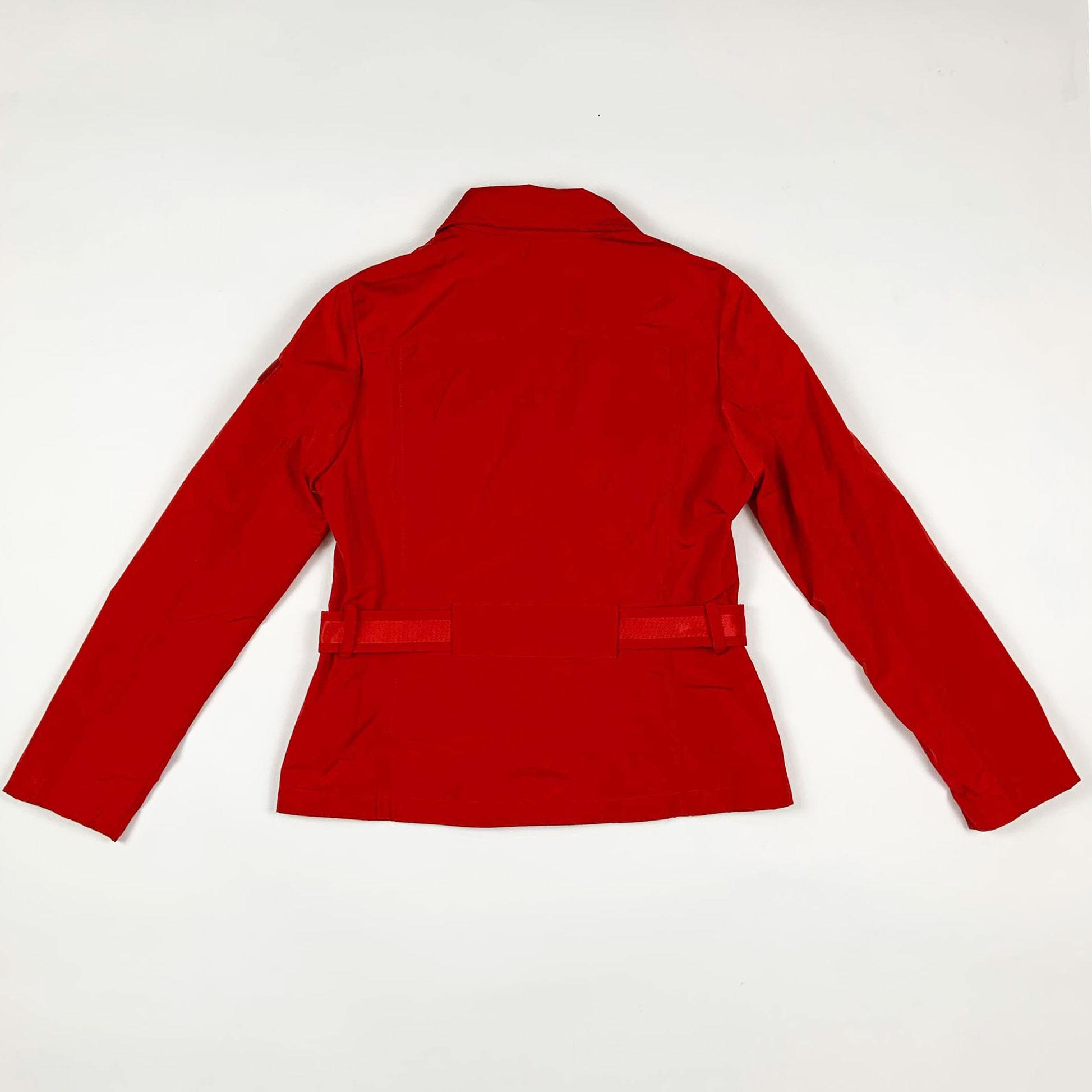 Giubbino girl con cintura - Rosso