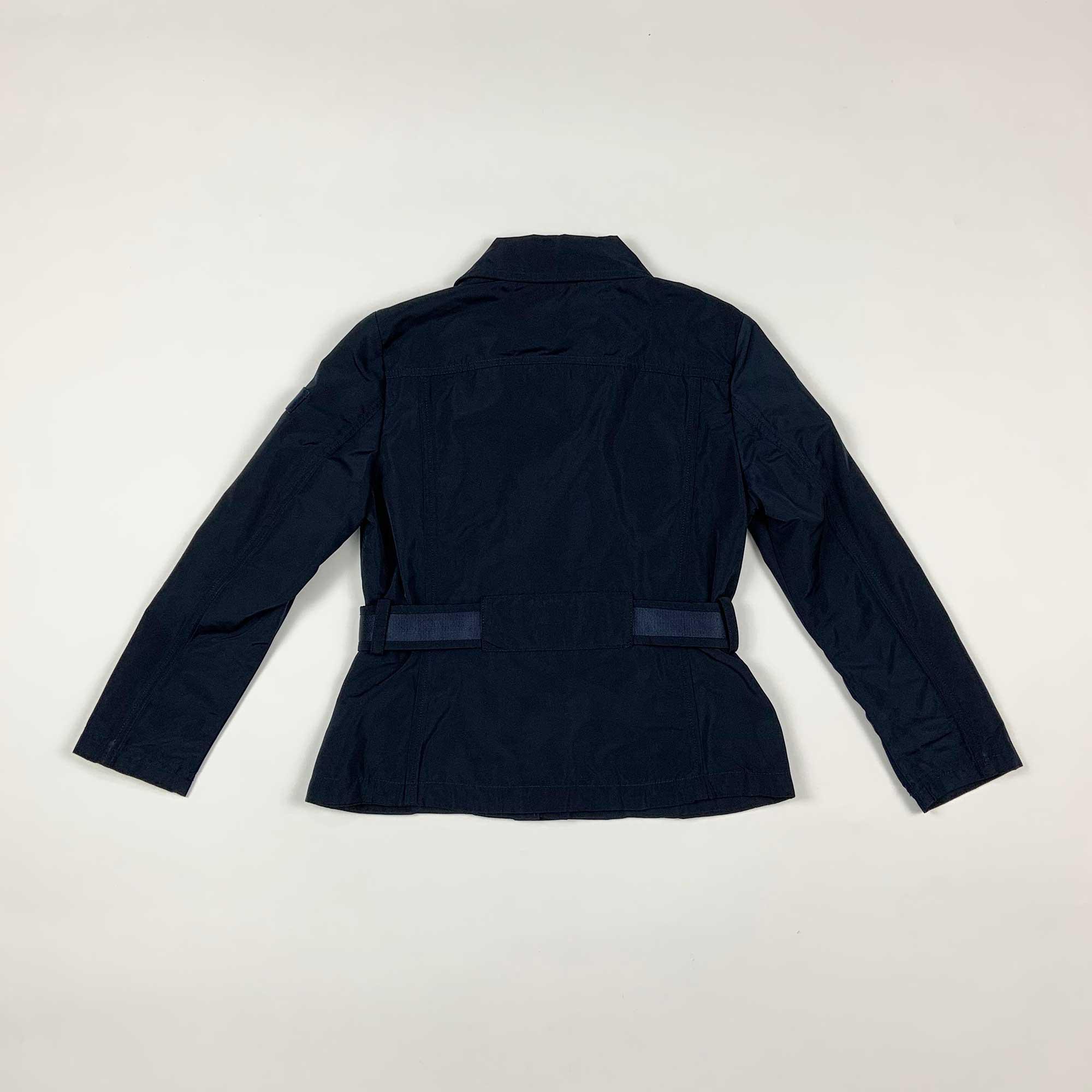 Giubbino girl con cintura - Blu