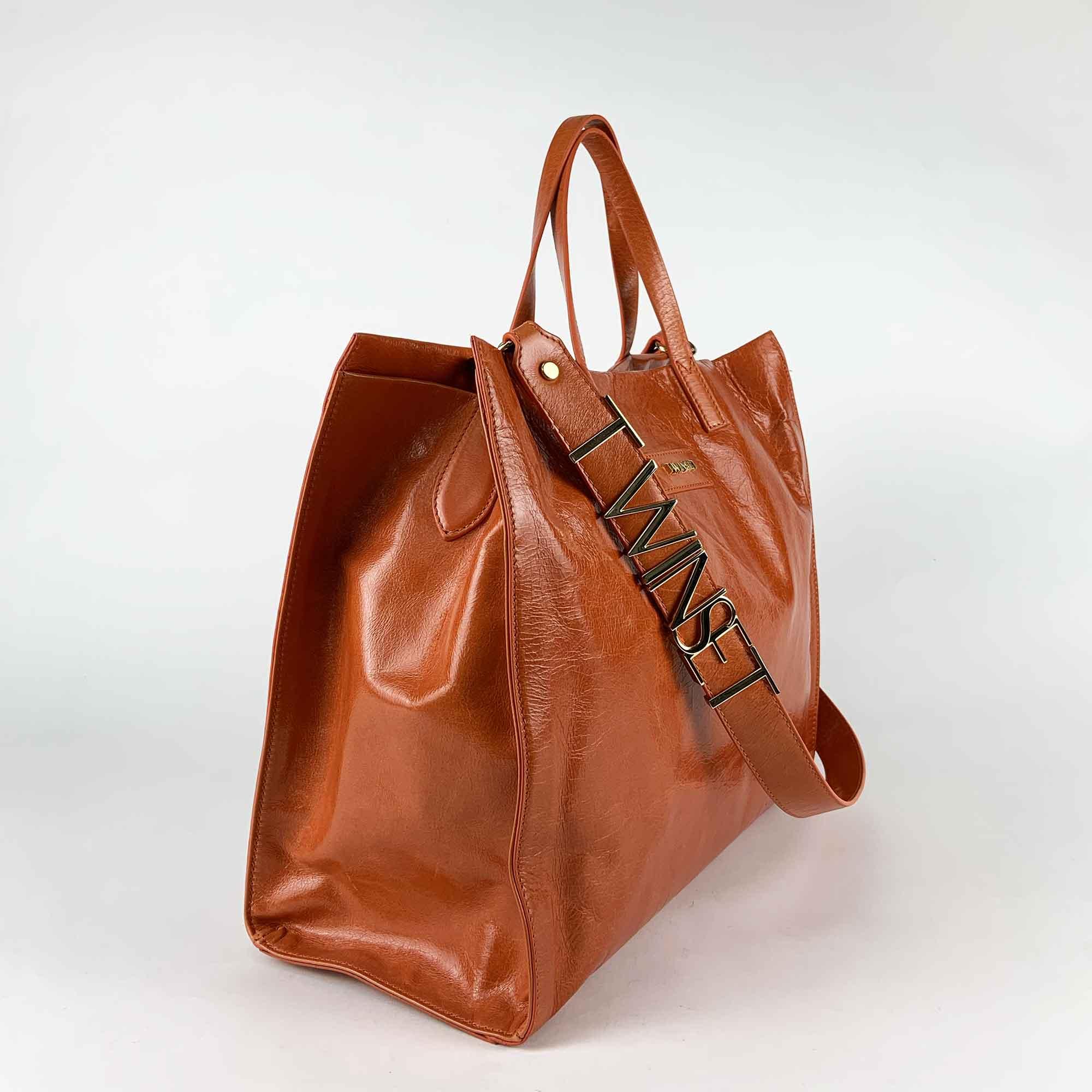 Borsa shopper con logo - Arancio diaspro