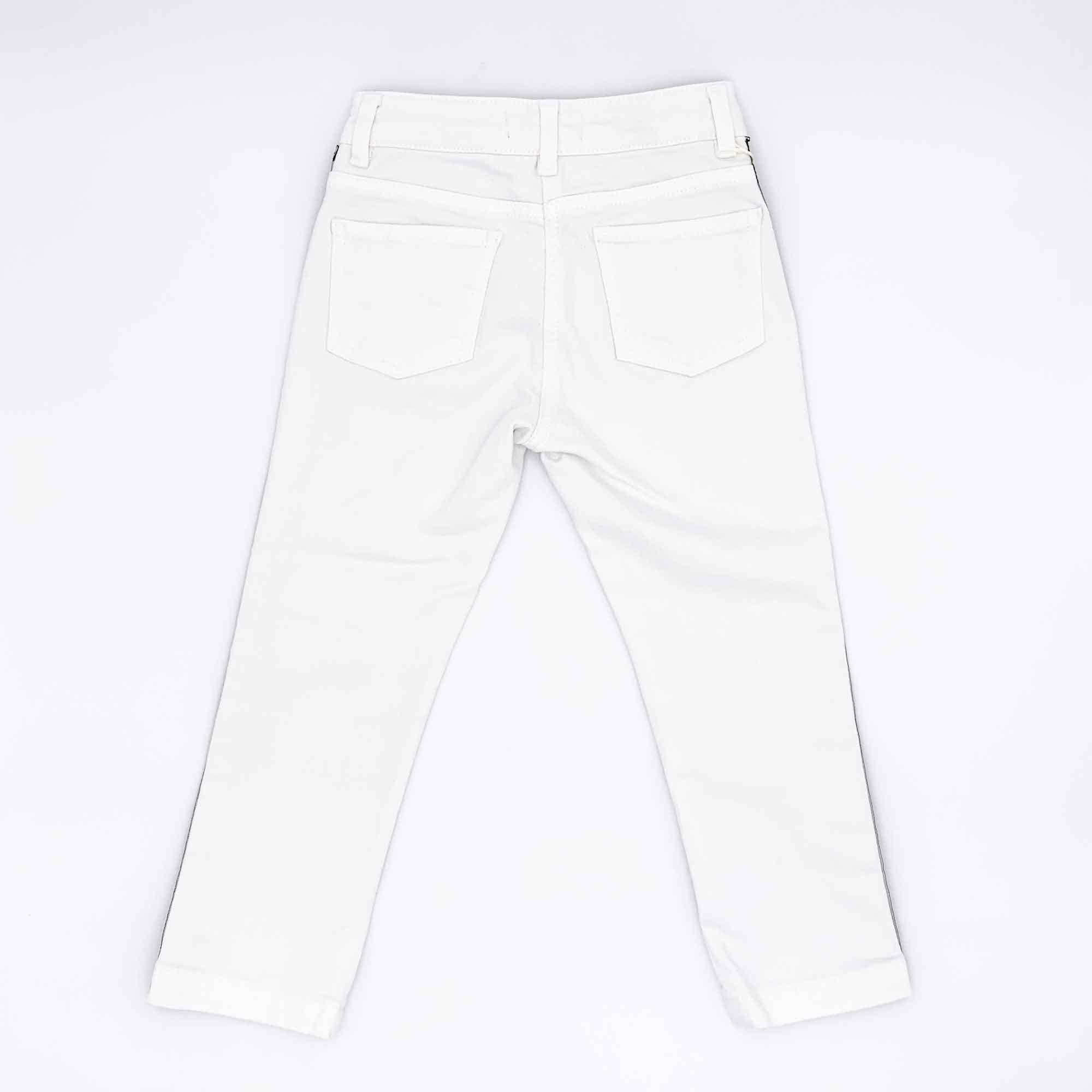 Jeans banda laterale - Bianco