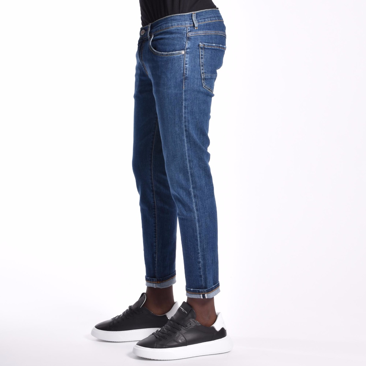 Jeans con risvolto - Denim
