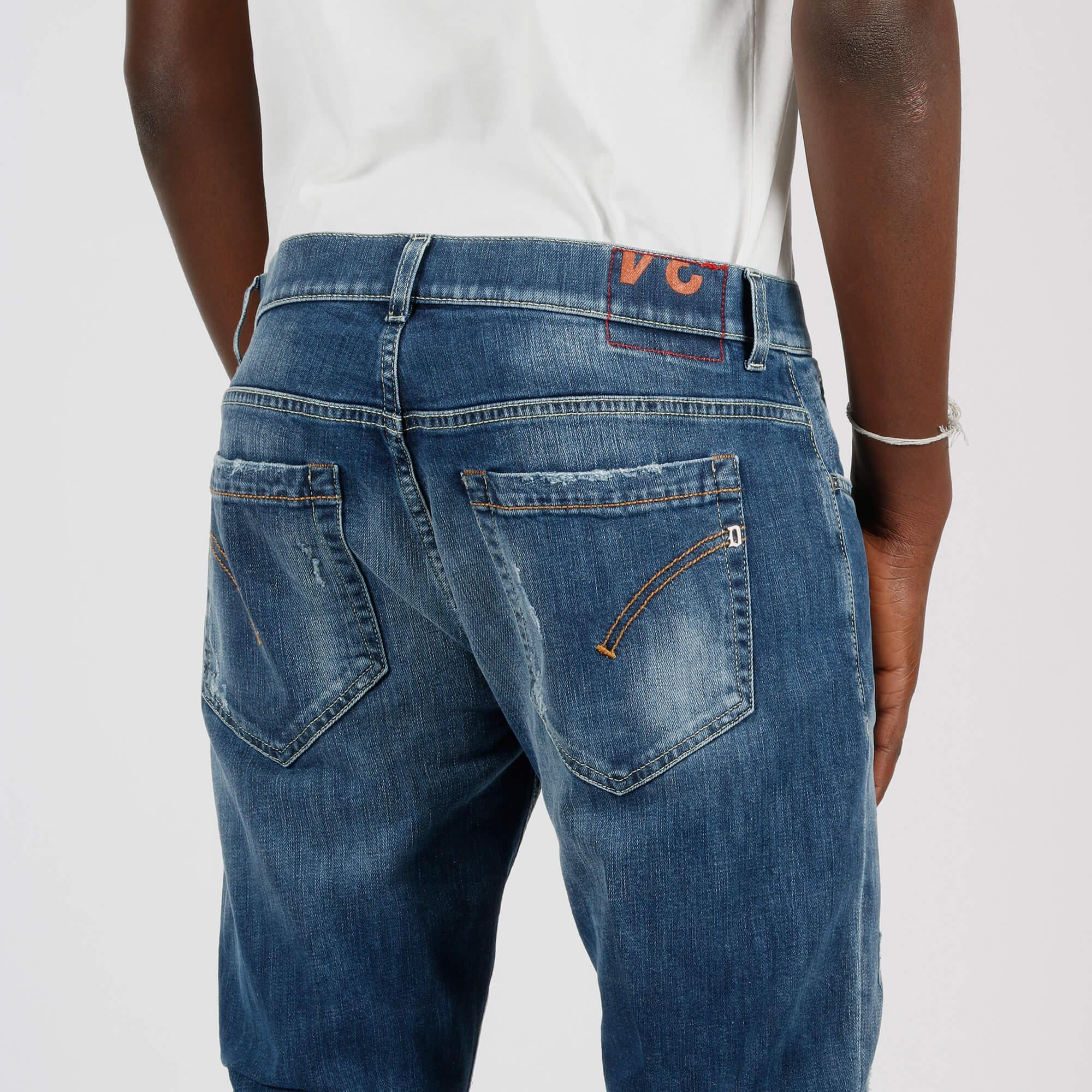 Jeans george strappi - Denim