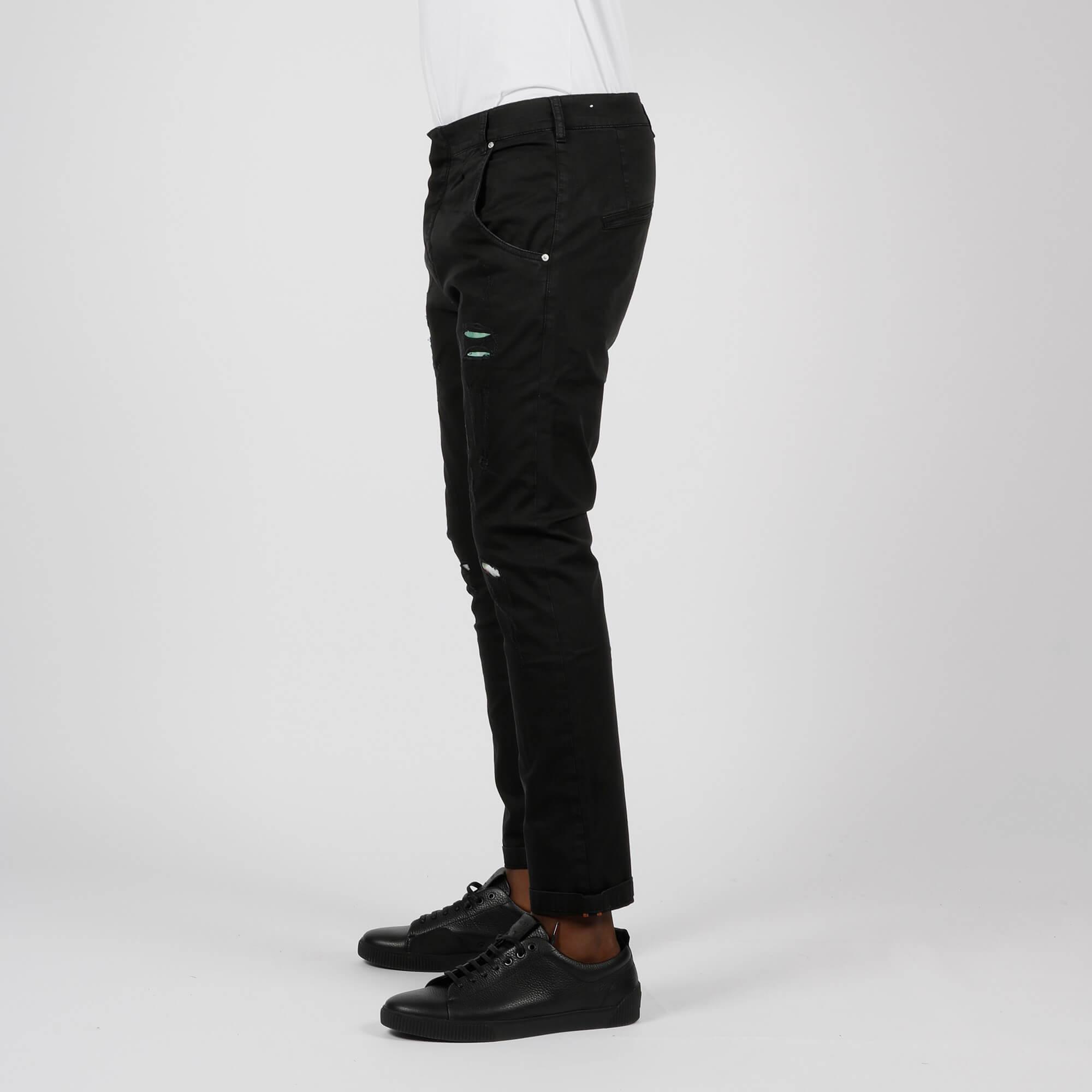 Jeans toppe e rotture - Nero
