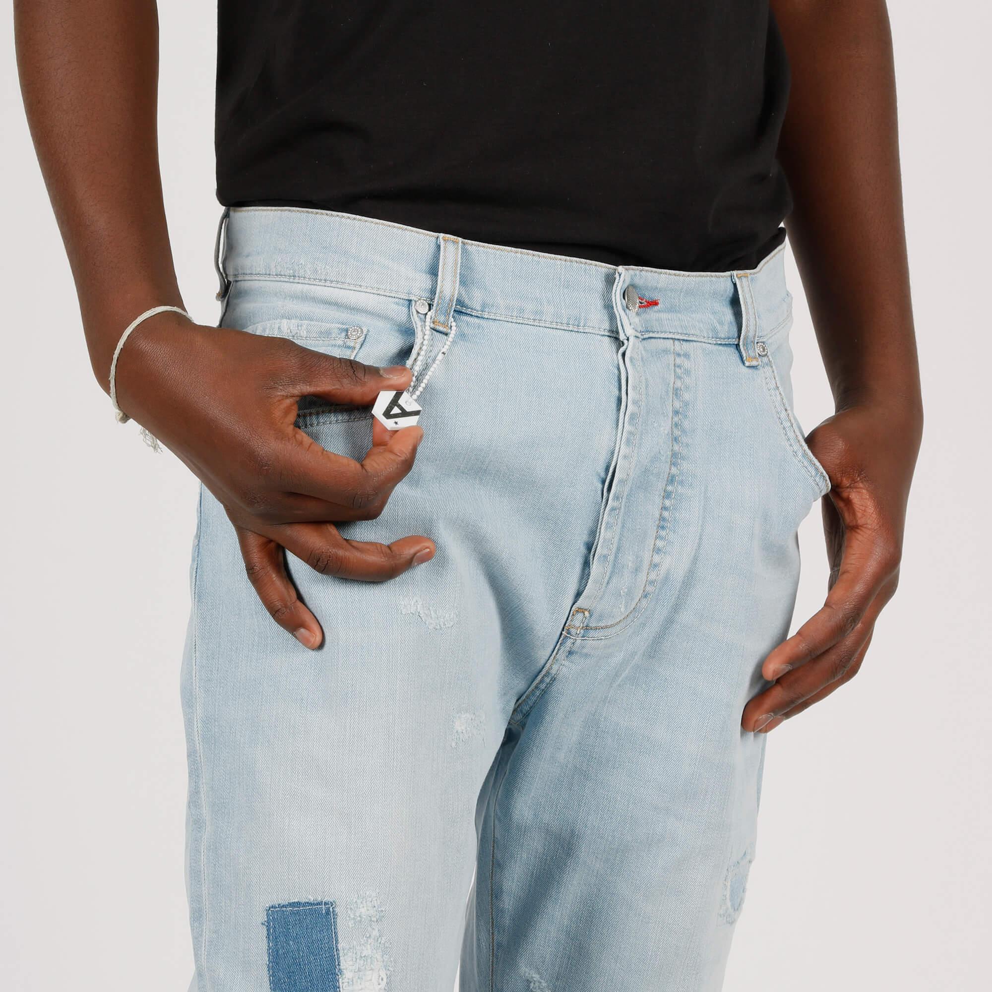Jeans toppe e rotture - Denim chiaro