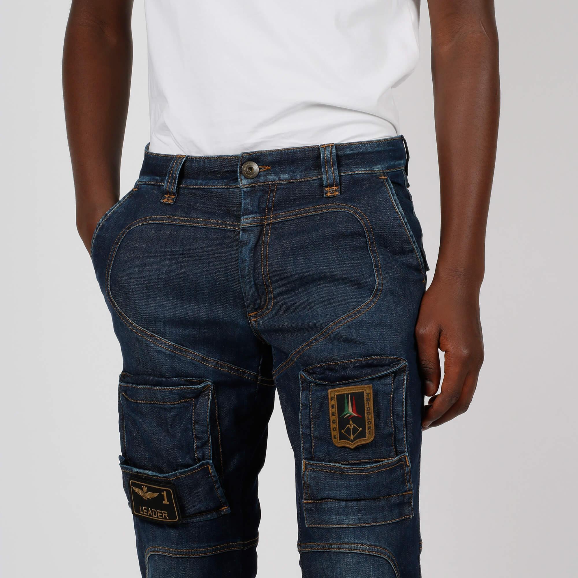 Jeans anti-g cargo - Denim scuro