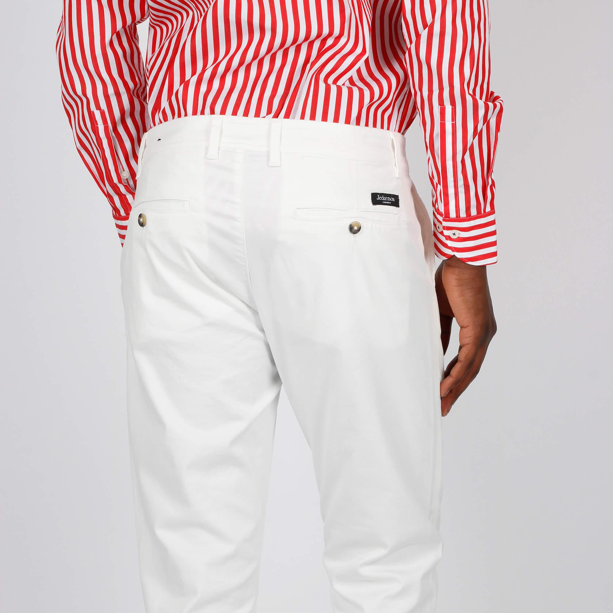 Pantalone ankle chino slim - Bianco