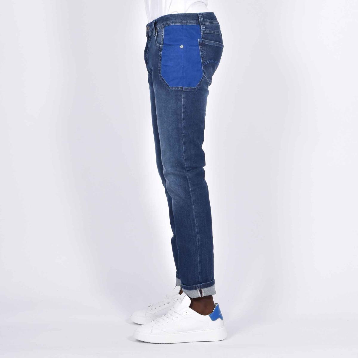 Jeans toppa blu brilla - Denim