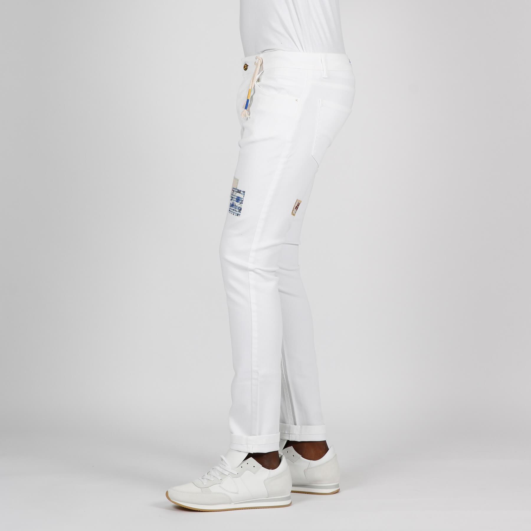 Jeans bull toppa - Bianco