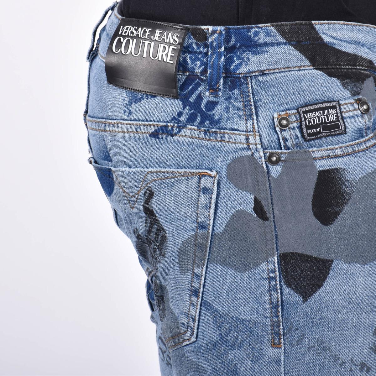 Jeans camu logo- Denim