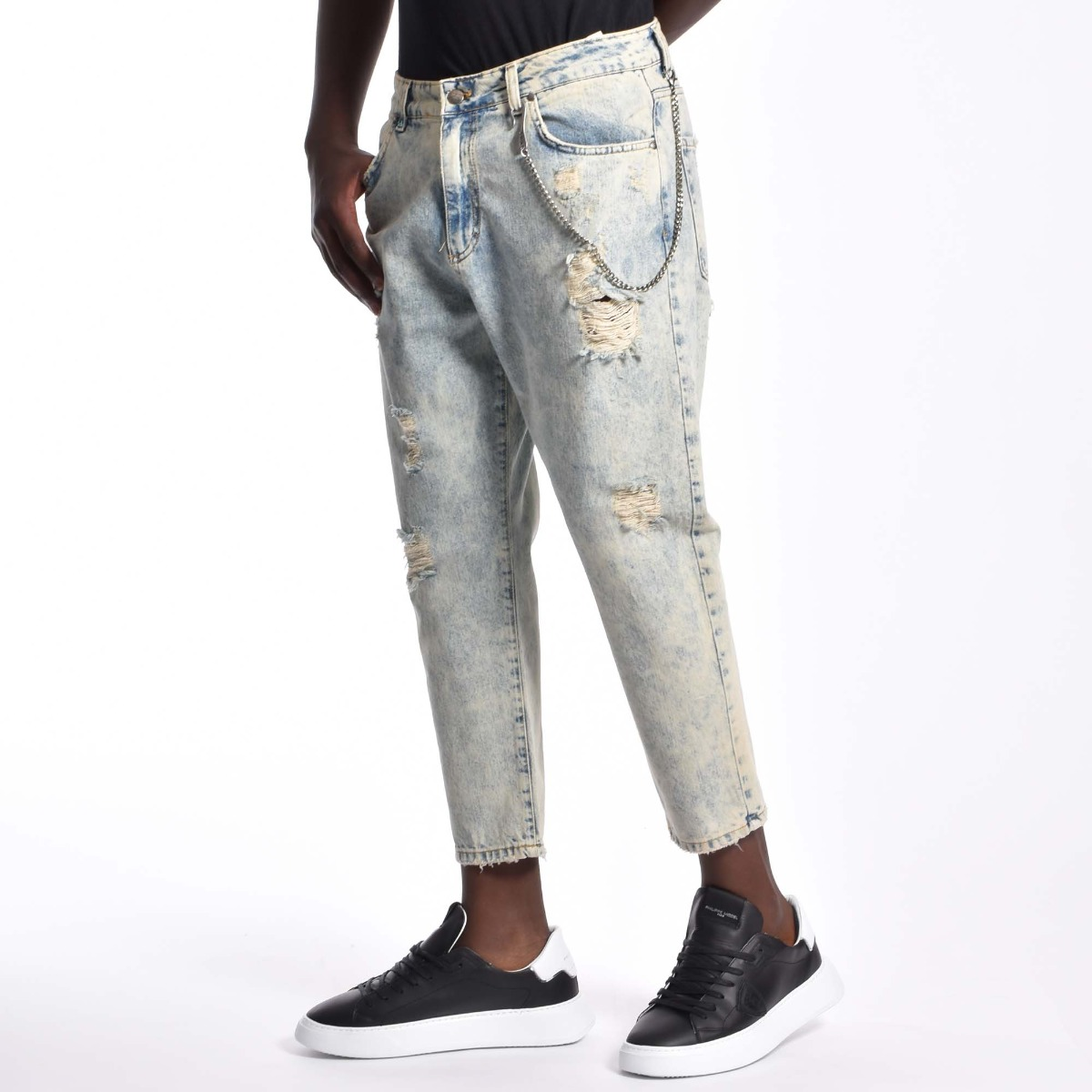 Jeans carrot rotture