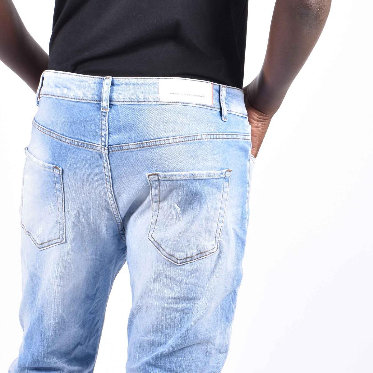 Jeans gerard con strappi- Denim chiaro