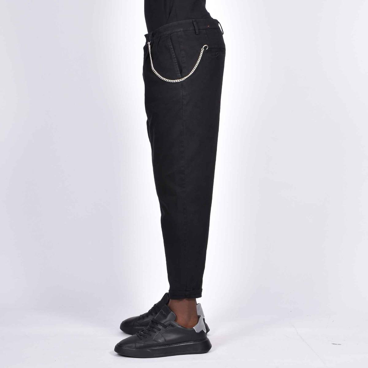 Jeans tasca america e catena - Nero