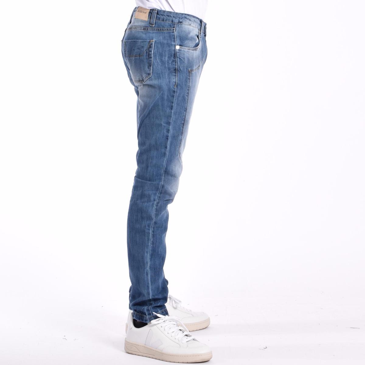 Jeans con toppe - Denim